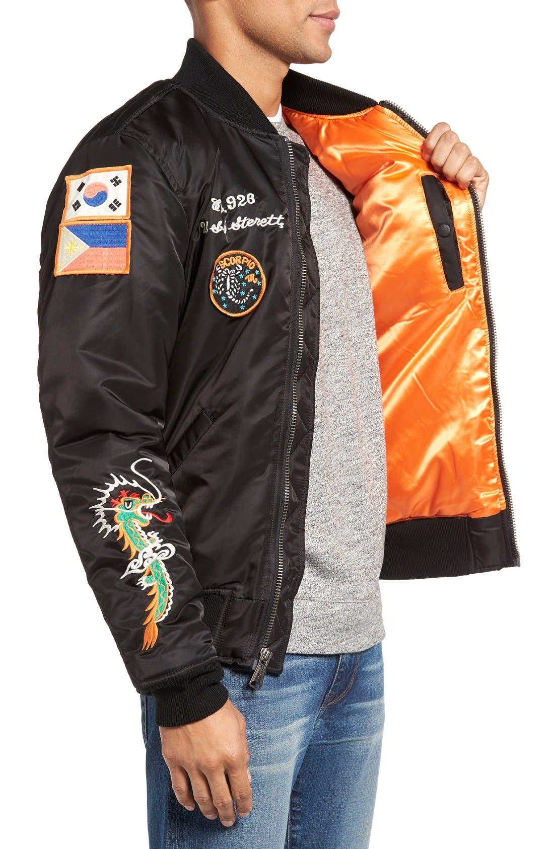 Souvenir MA-1 Flight Jacket,                             Alternate thumbnail 3, color,                             001