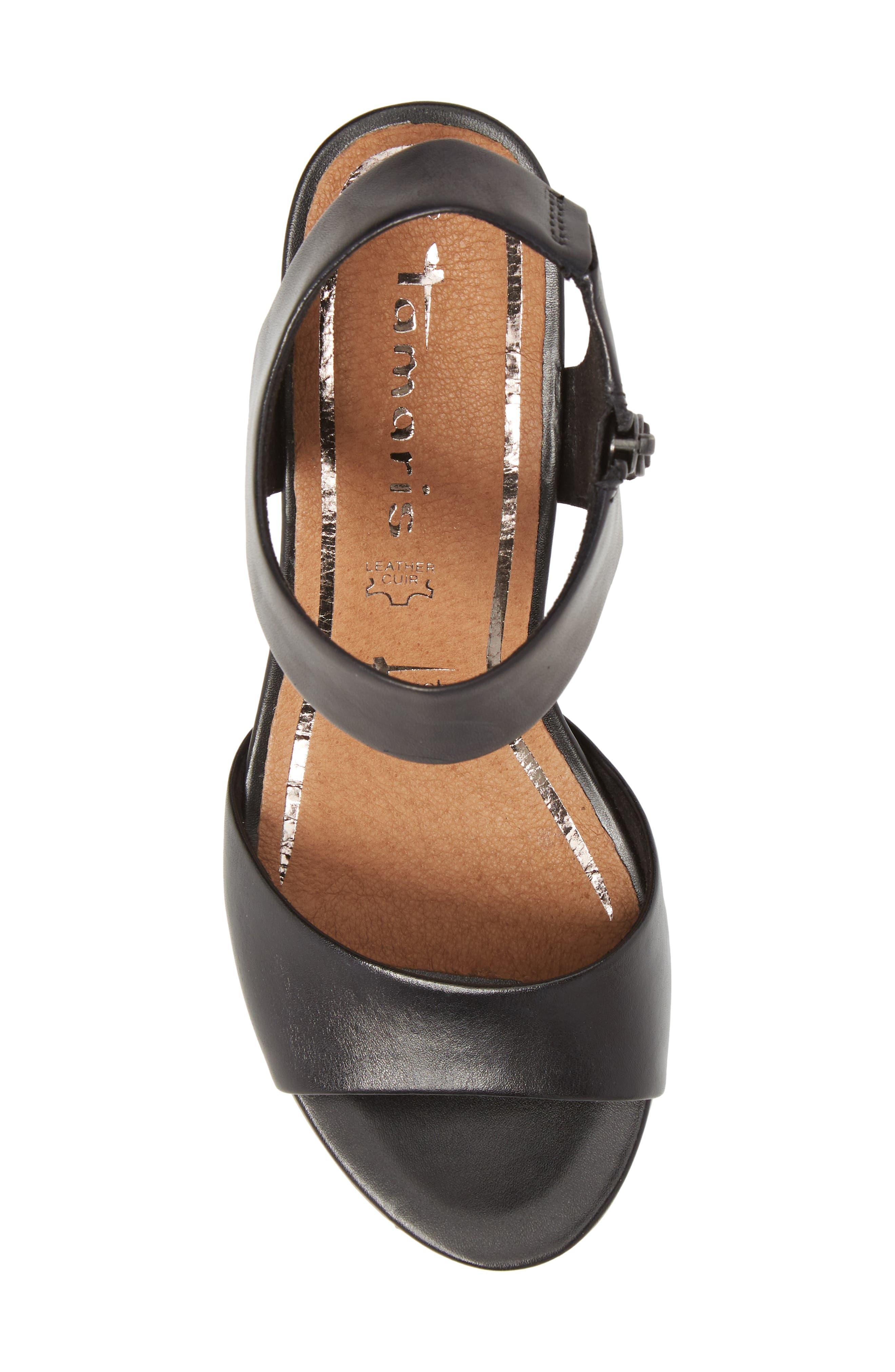 'Alis' Lug Sole Wedge Sandal,                             Alternate thumbnail 5, color,                             003