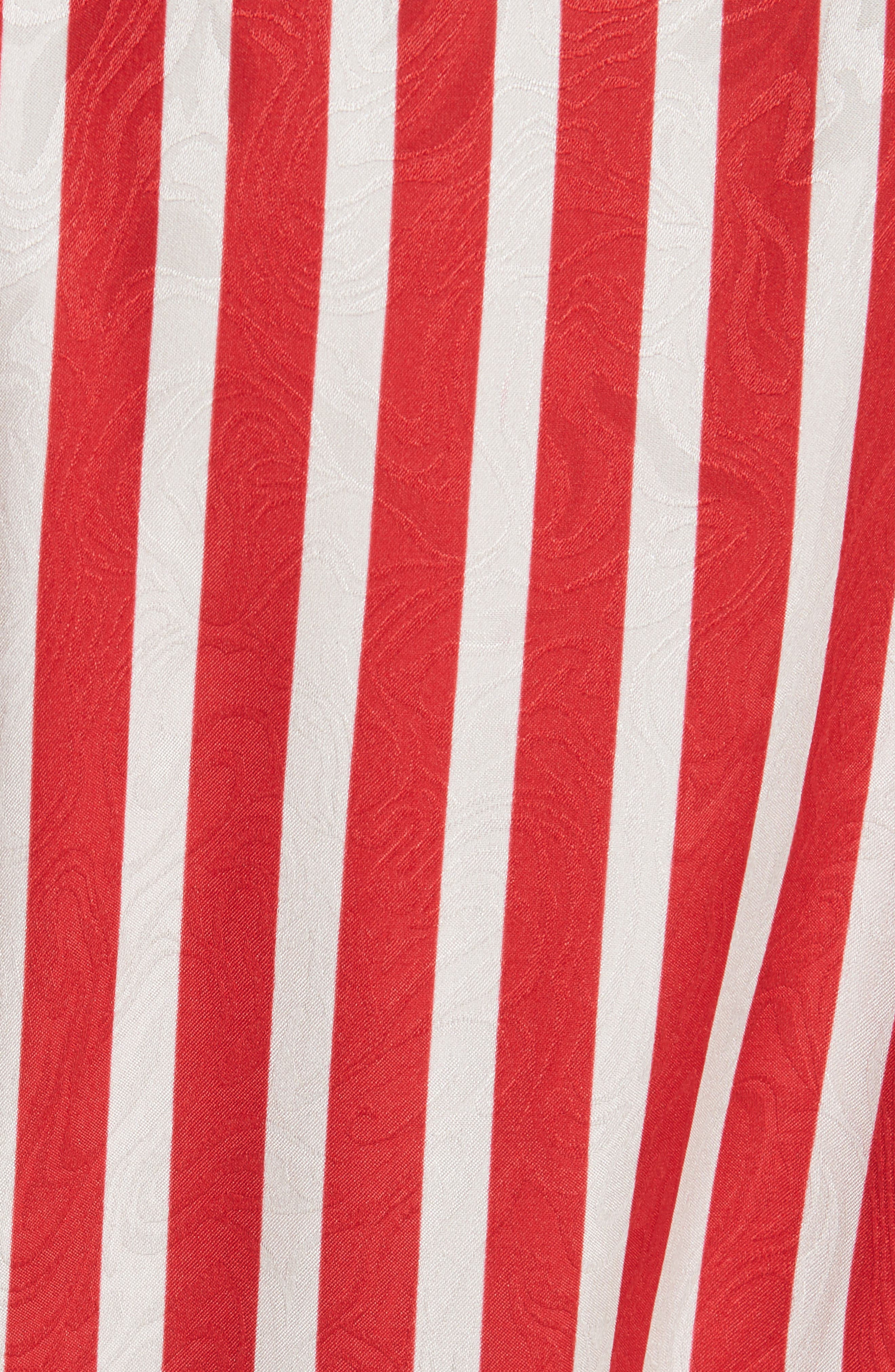 STELLA MCCARTNEY,                             Zigzag Stripe Silk Dress,                             Alternate thumbnail 5, color,                             627
