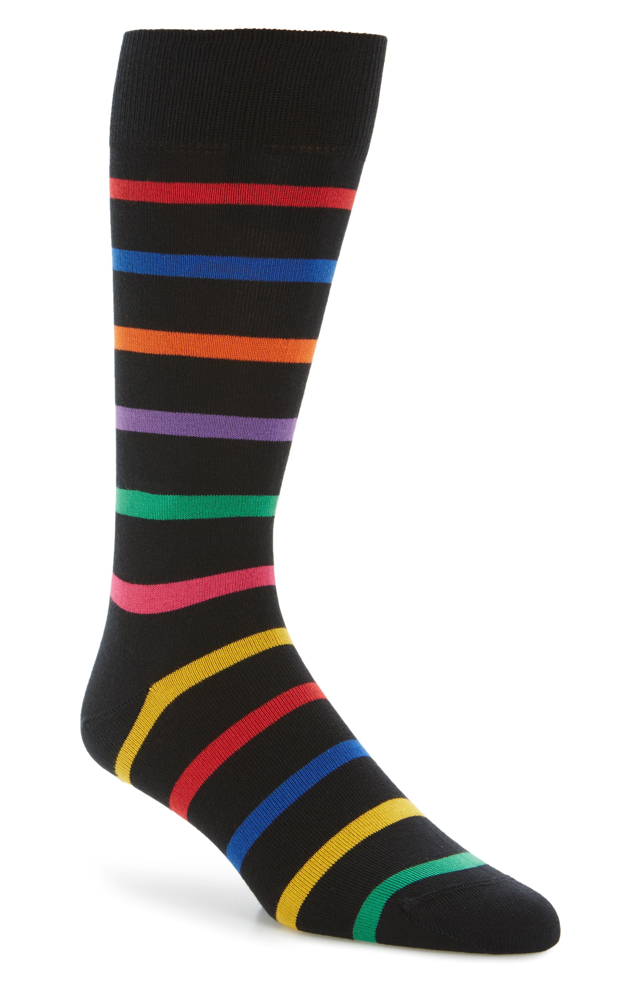 Bright Stripe Socks,                             Main thumbnail 1, color,                             001