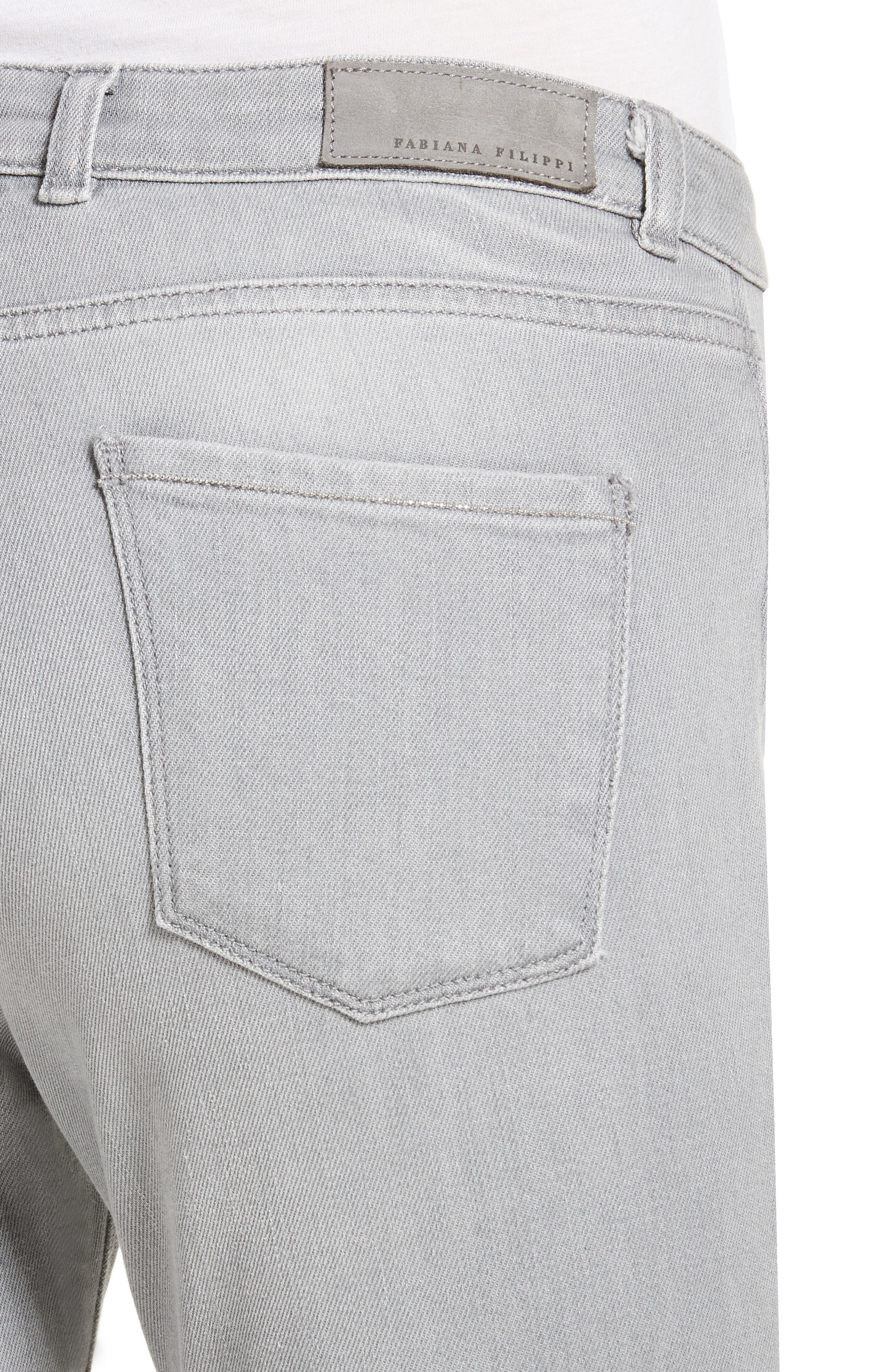 Stretch Skinny Jeans,                             Alternate thumbnail 4, color,                             020