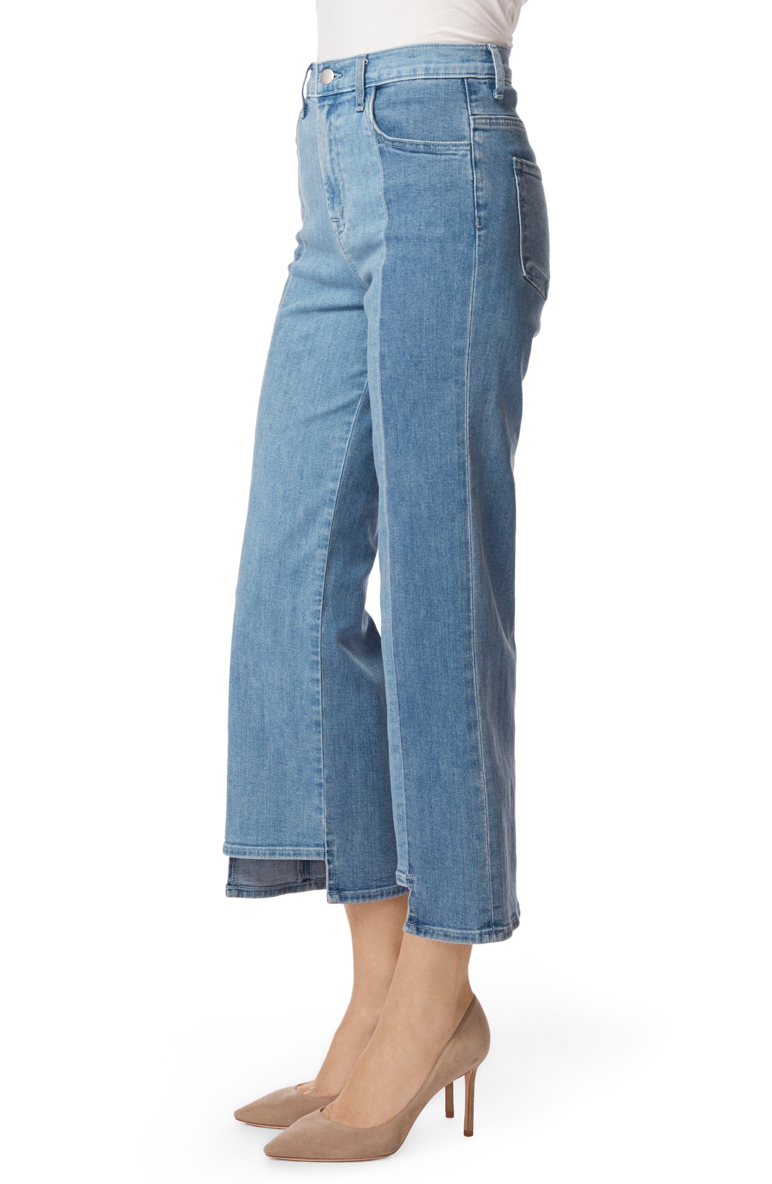 Joan High Waist Crop Wide Leg Jeans,                             Alternate thumbnail 3, color,                             457