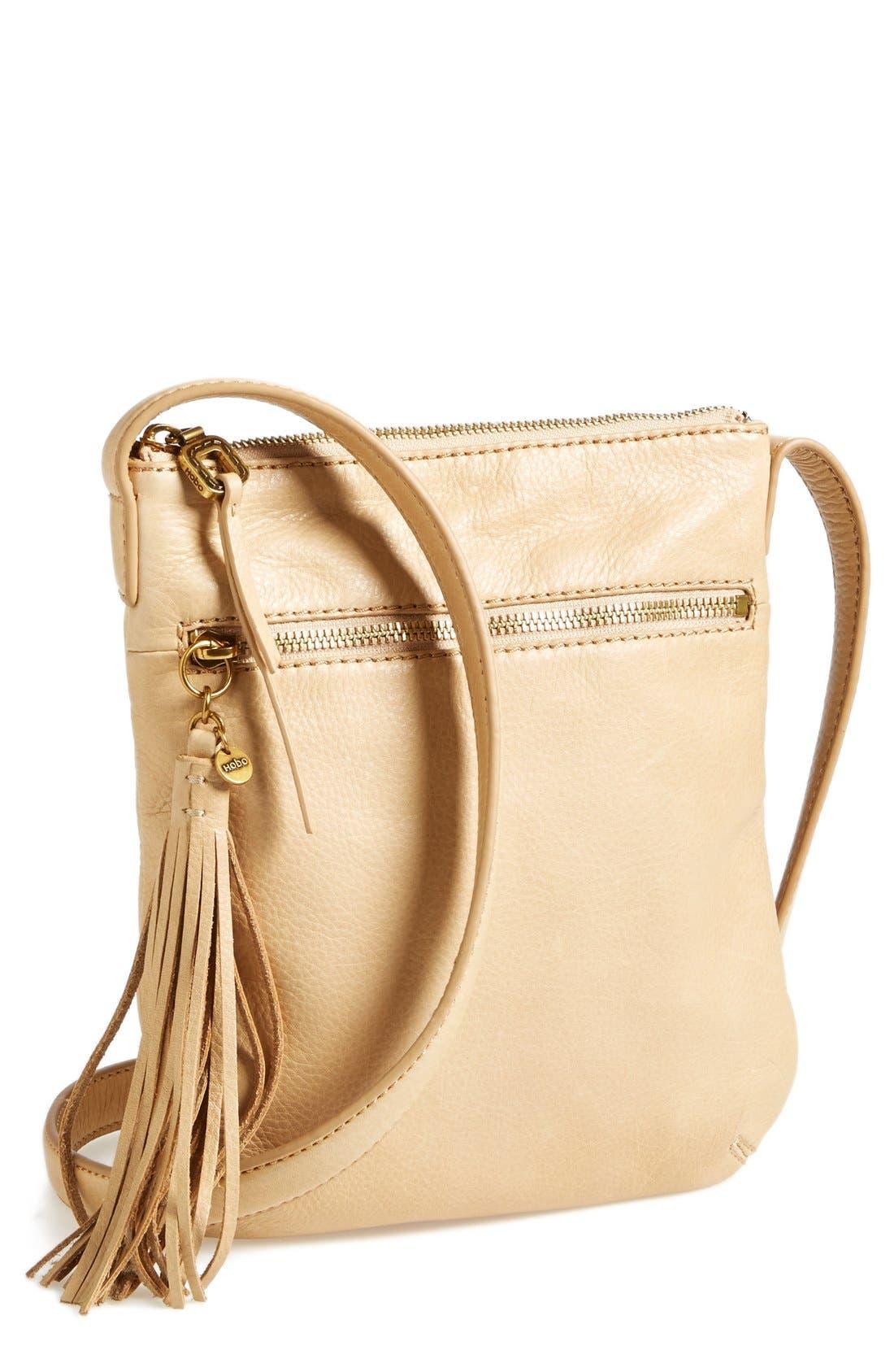 'Sarah' Leather Crossbody Bag,                             Main thumbnail 5, color,