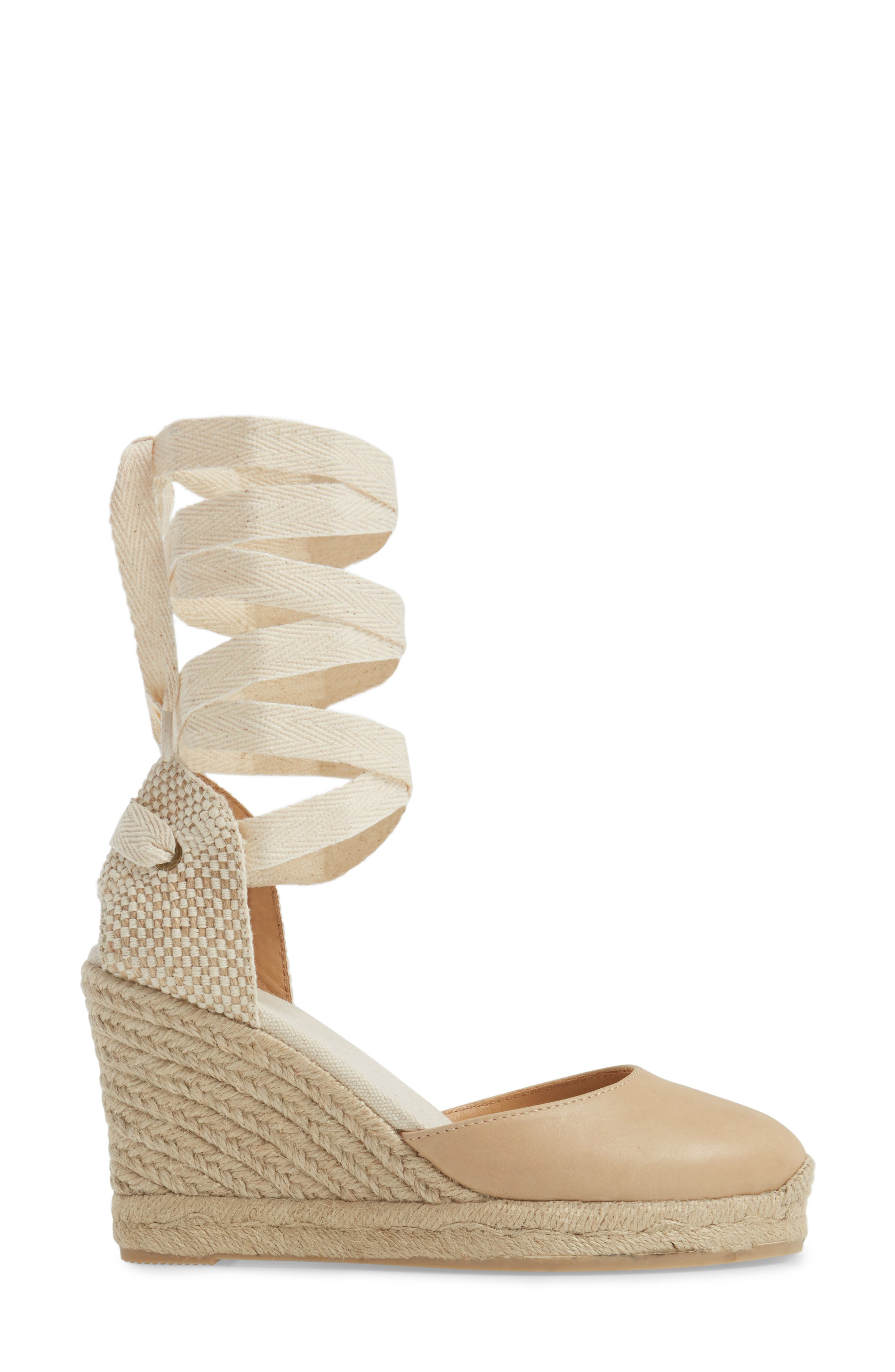 Lace-Up Espadrille Wedge,                             Alternate thumbnail 3, color,                             250