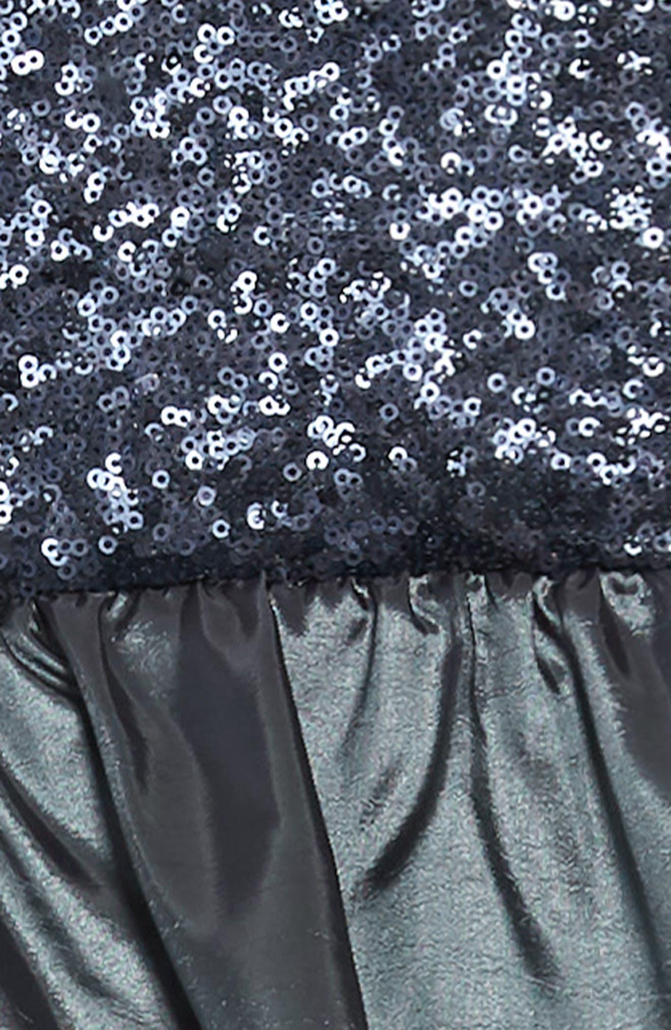 Stella M'Lia Sequin Bubble Dress,                             Alternate thumbnail 3, color,                             GREY