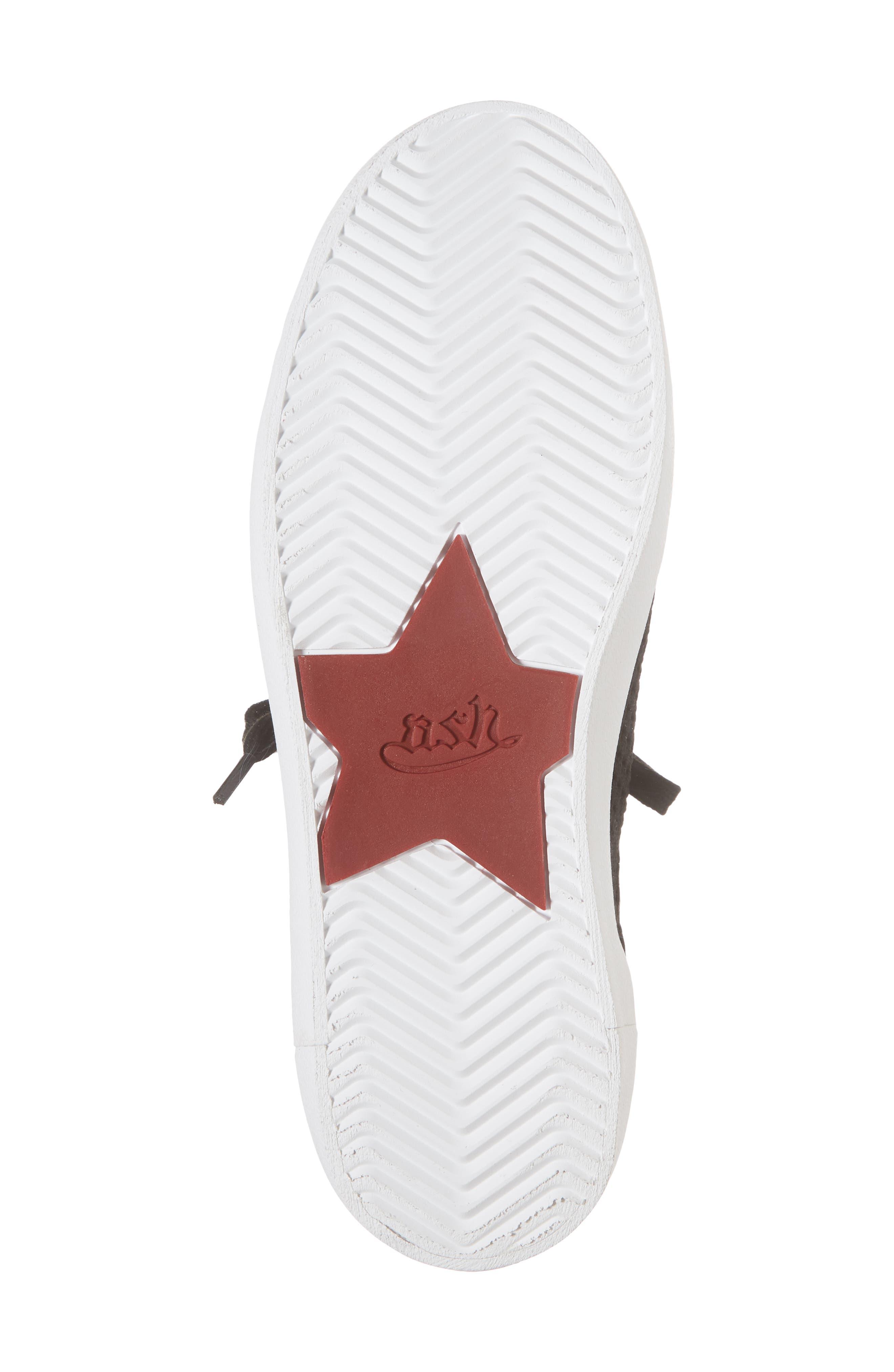 Nolita Mid Top Sock Sneaker,                             Alternate thumbnail 6, color,                             001