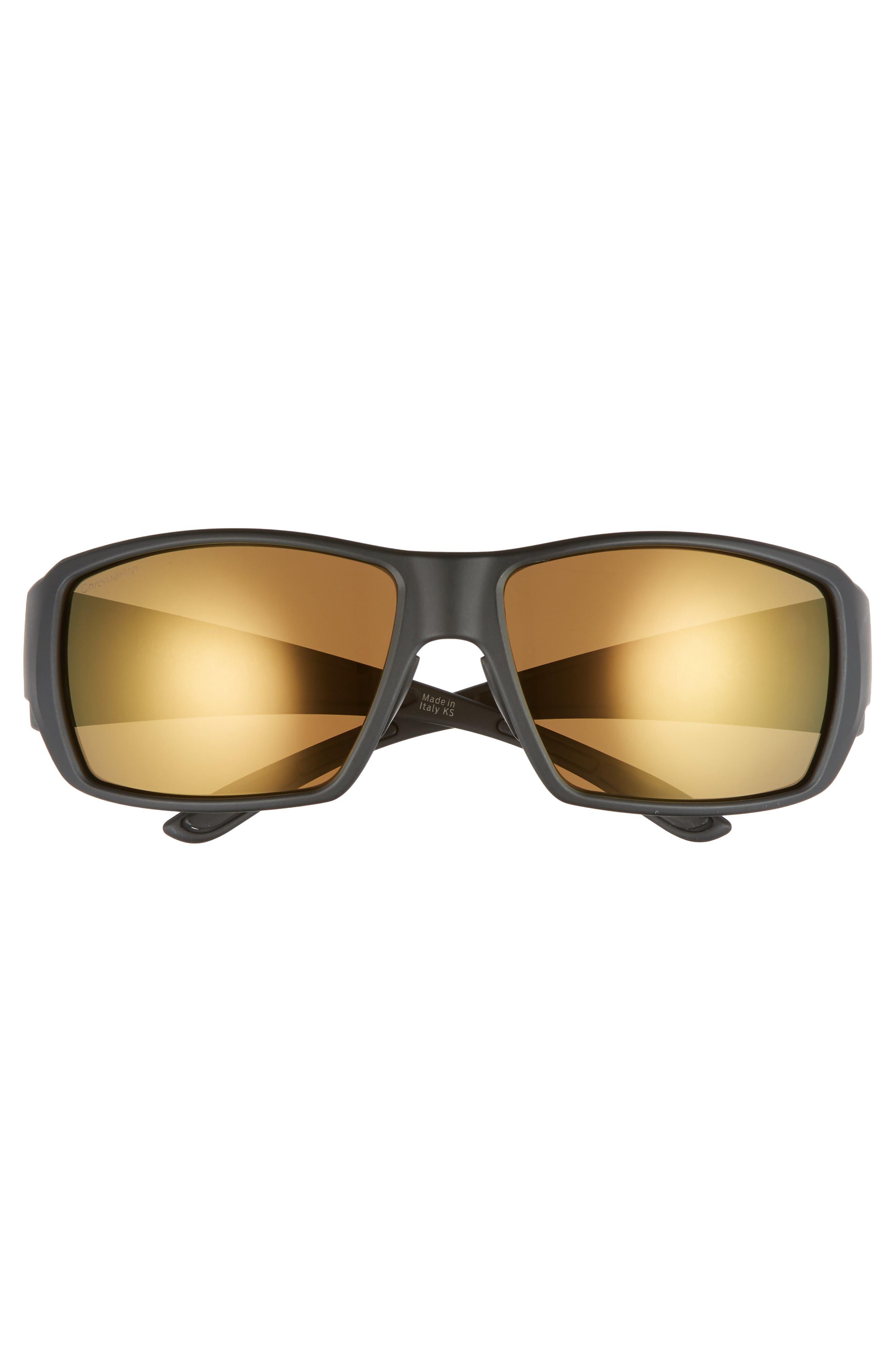 Guide's Choice 62mm ChromaPop<sup>™</sup> Sport Sunglasses,                             Alternate thumbnail 2, color,                             MATTE BLACK/ BRONZE MIRROR