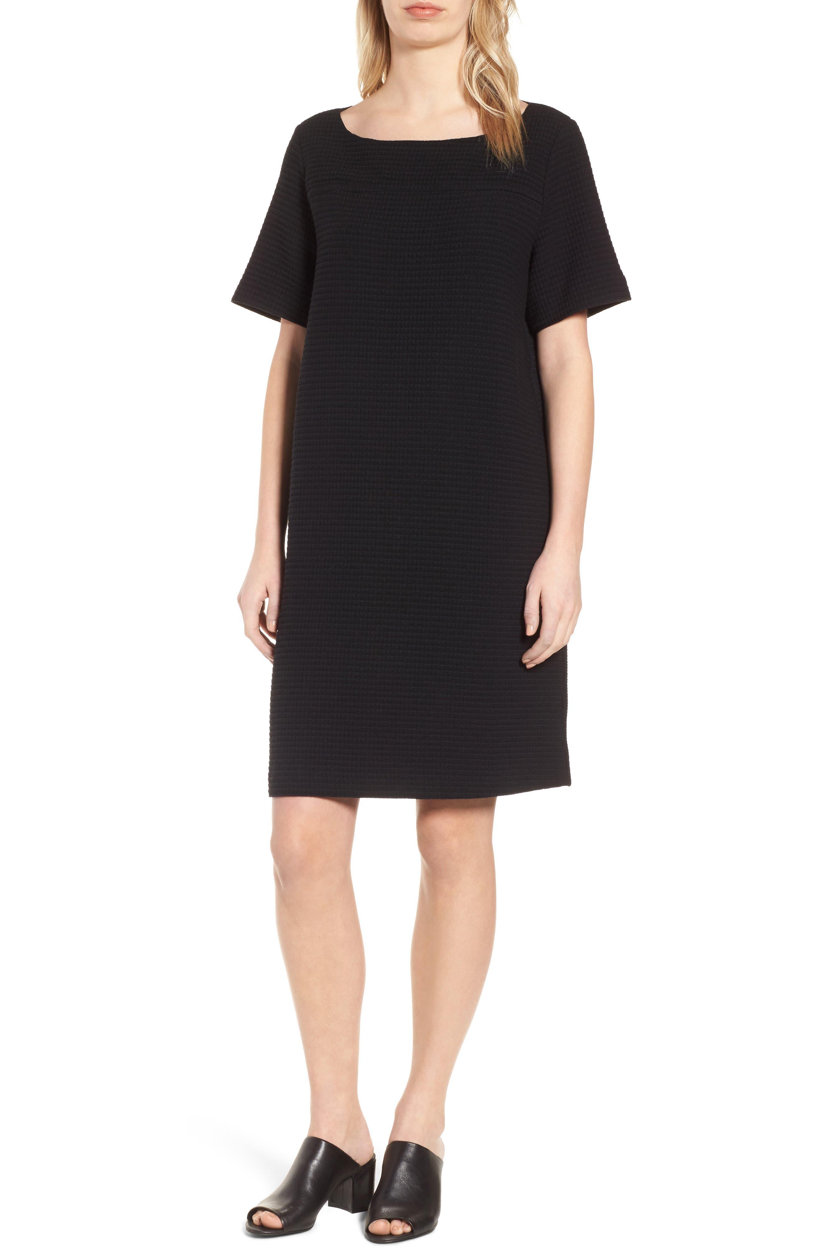 Jacquard Shift Dress,                             Main thumbnail 1, color,                             001
