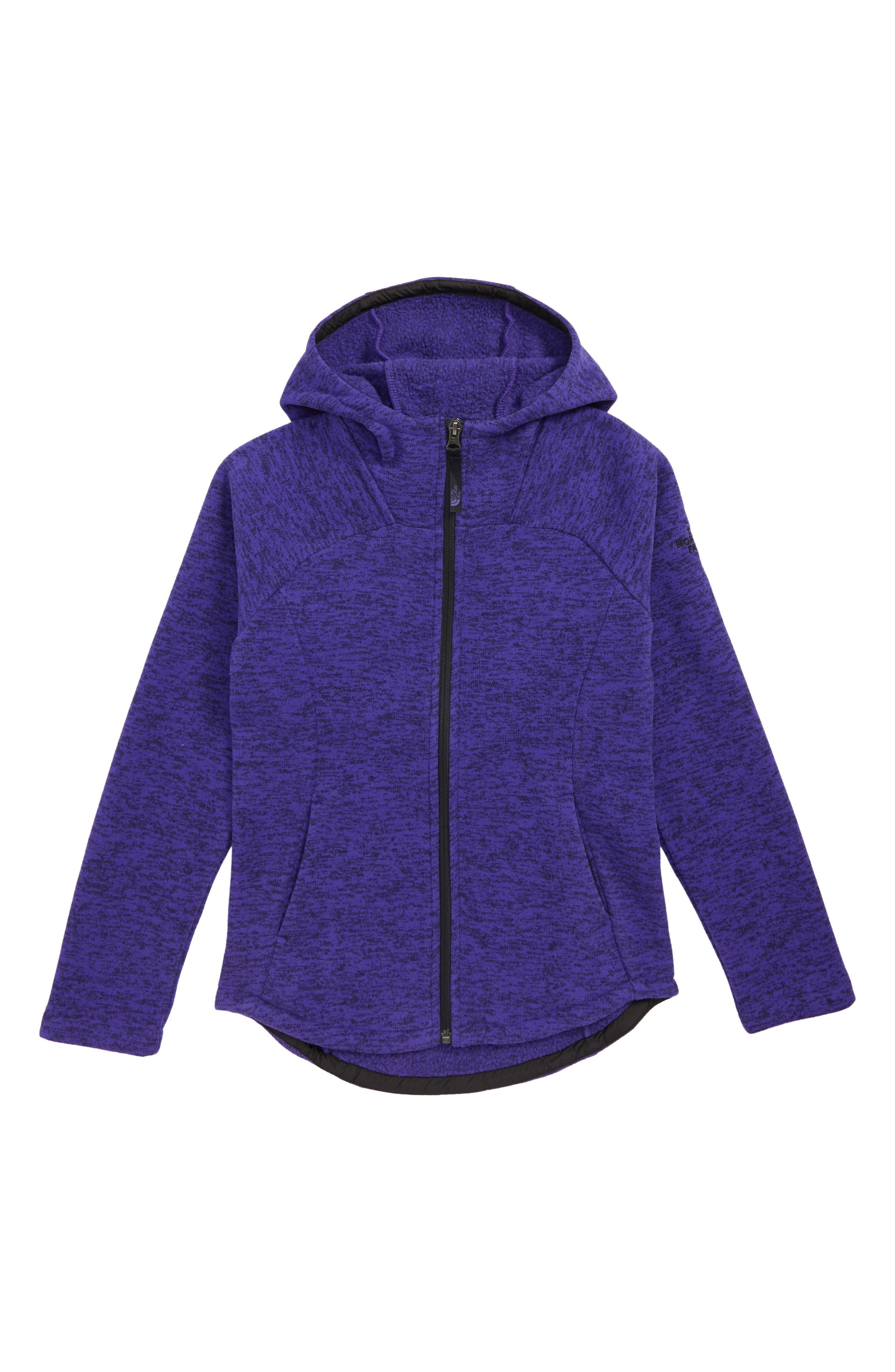 Indi Fleece Jacket,                         Main,                         color, DEEP BLUE HEATHER