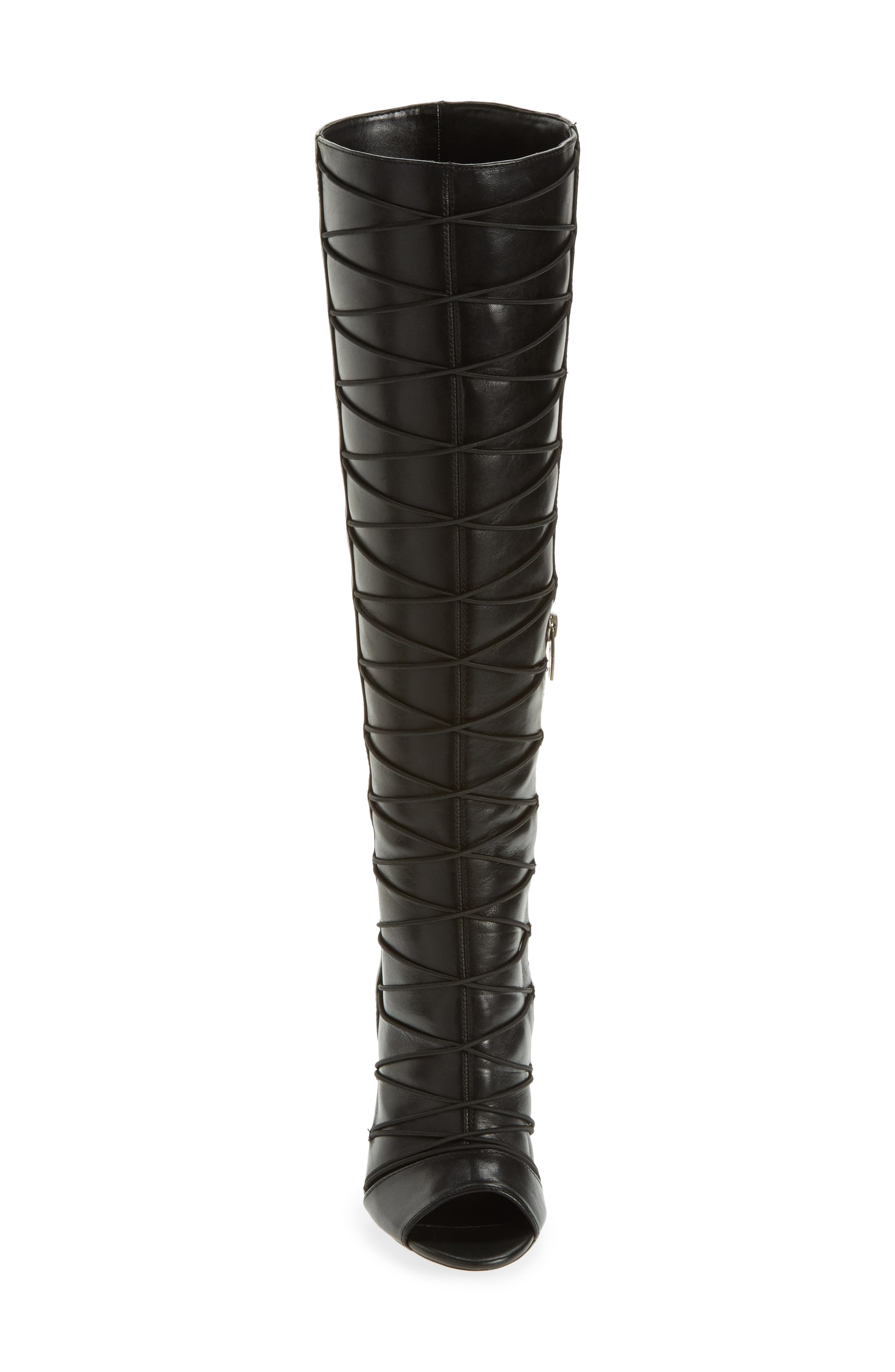 Kentra Strappy Tall Boot,                             Alternate thumbnail 4, color,                             001
