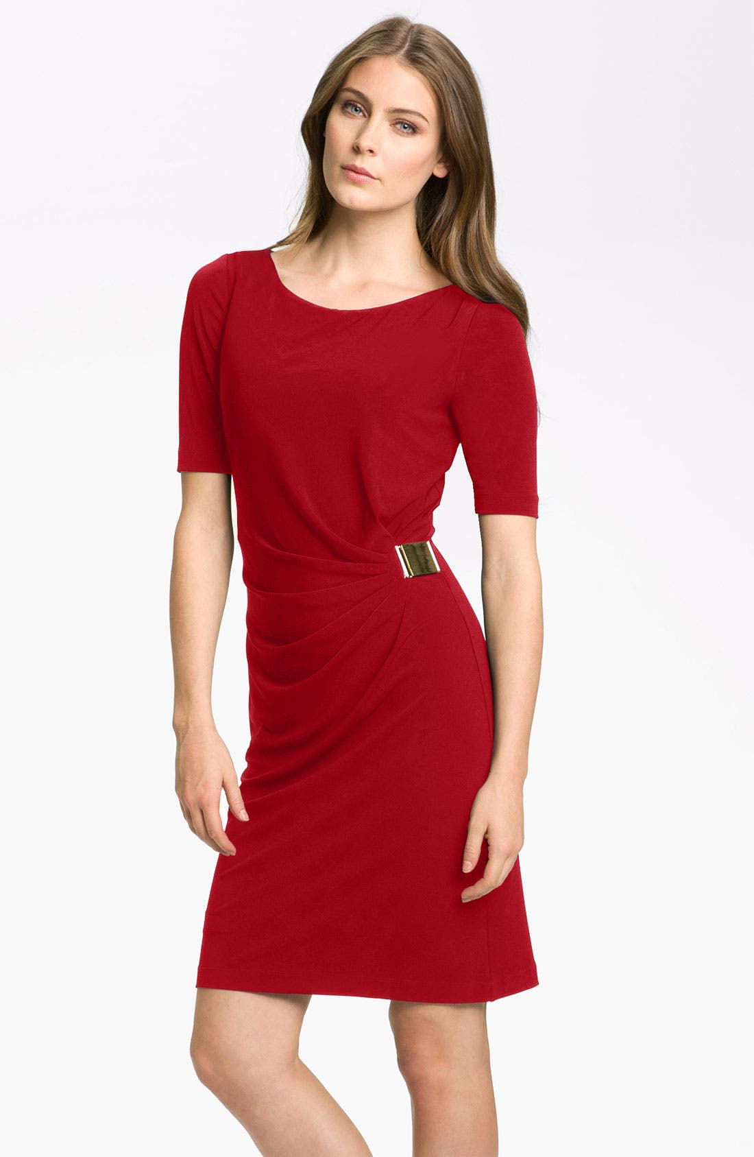 by Arthur S. Levine 'Kevin' Jersey Sheath Dress,                             Main thumbnail 6, color,