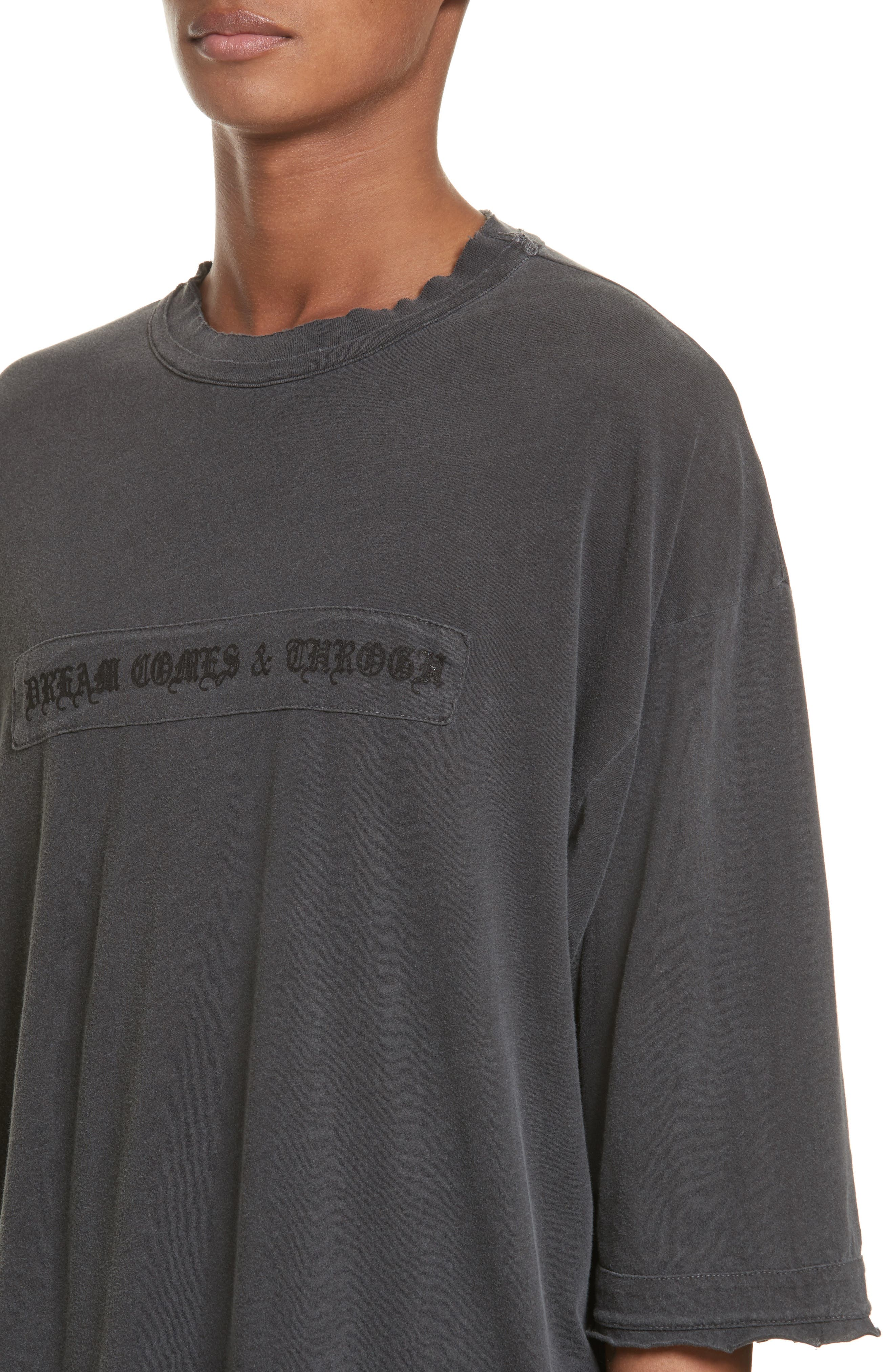 Eshu Oversize T-Shirt,                             Alternate thumbnail 4, color,                             001