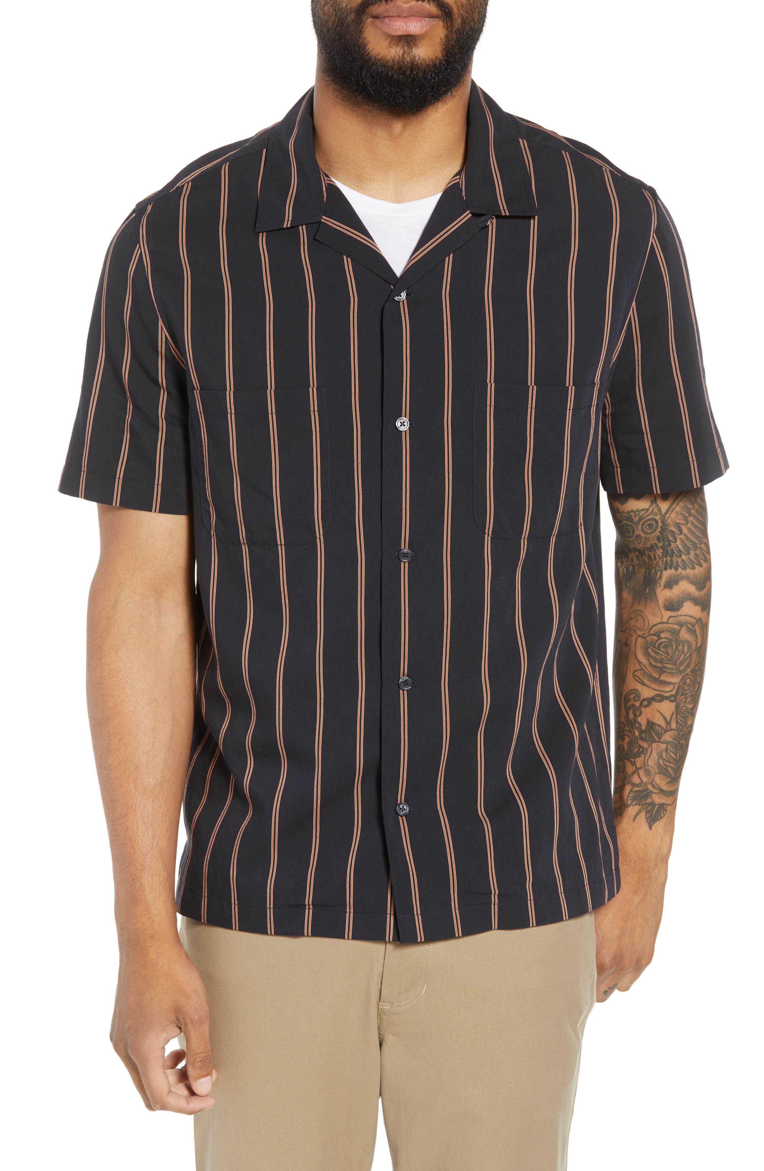 VINCE,                             Classic Vintage Cabana Shirt,                             Alternate thumbnail 4, color,                             463