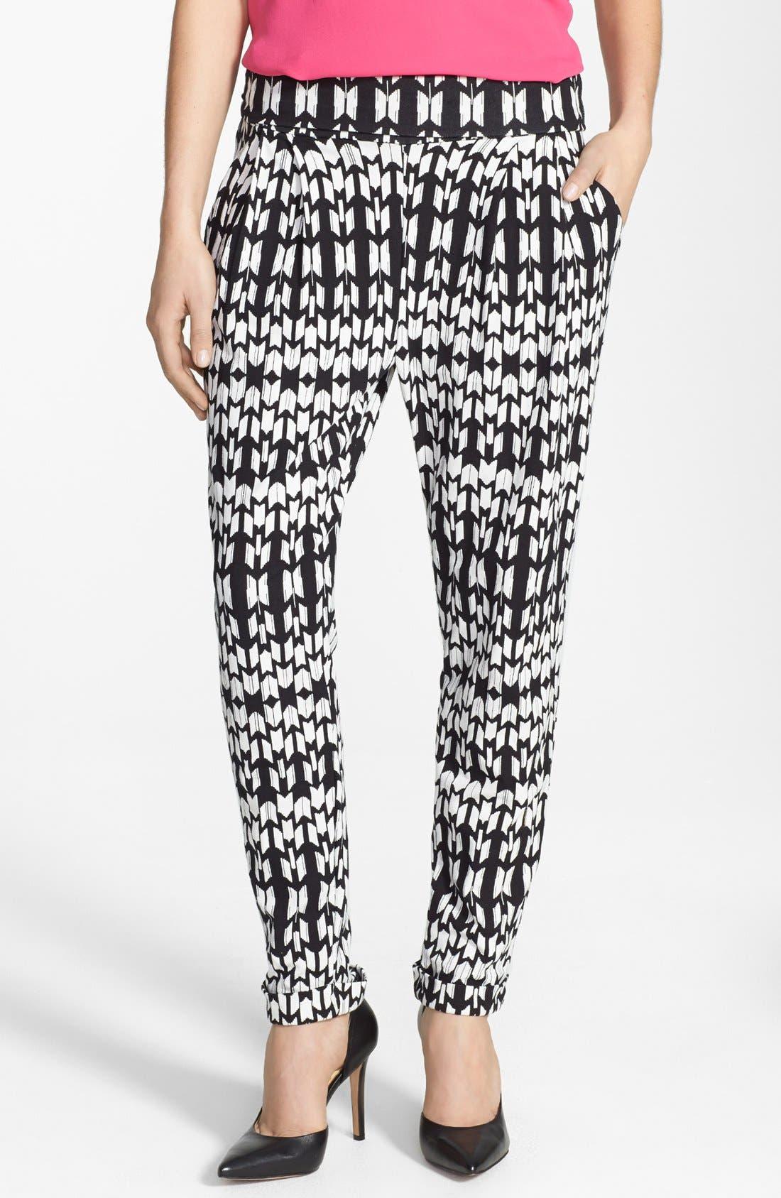 Pleat Knit Slouchy Pants,                         Main,                         color, 002