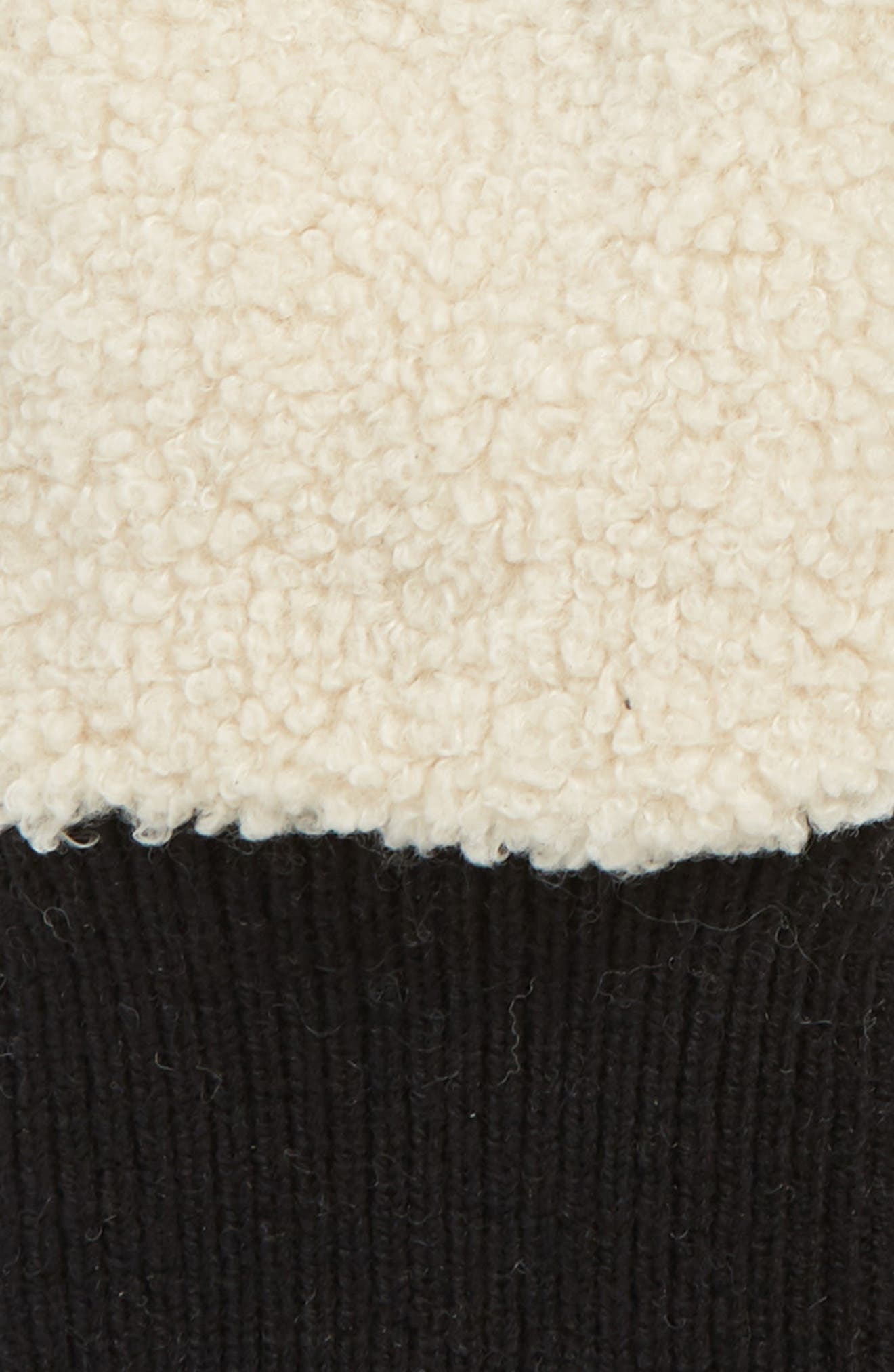 UGG<sup>®</sup> Faux Shearling Touchscreen Compatible Gloves,                             Alternate thumbnail 2, color,                             NATURAL