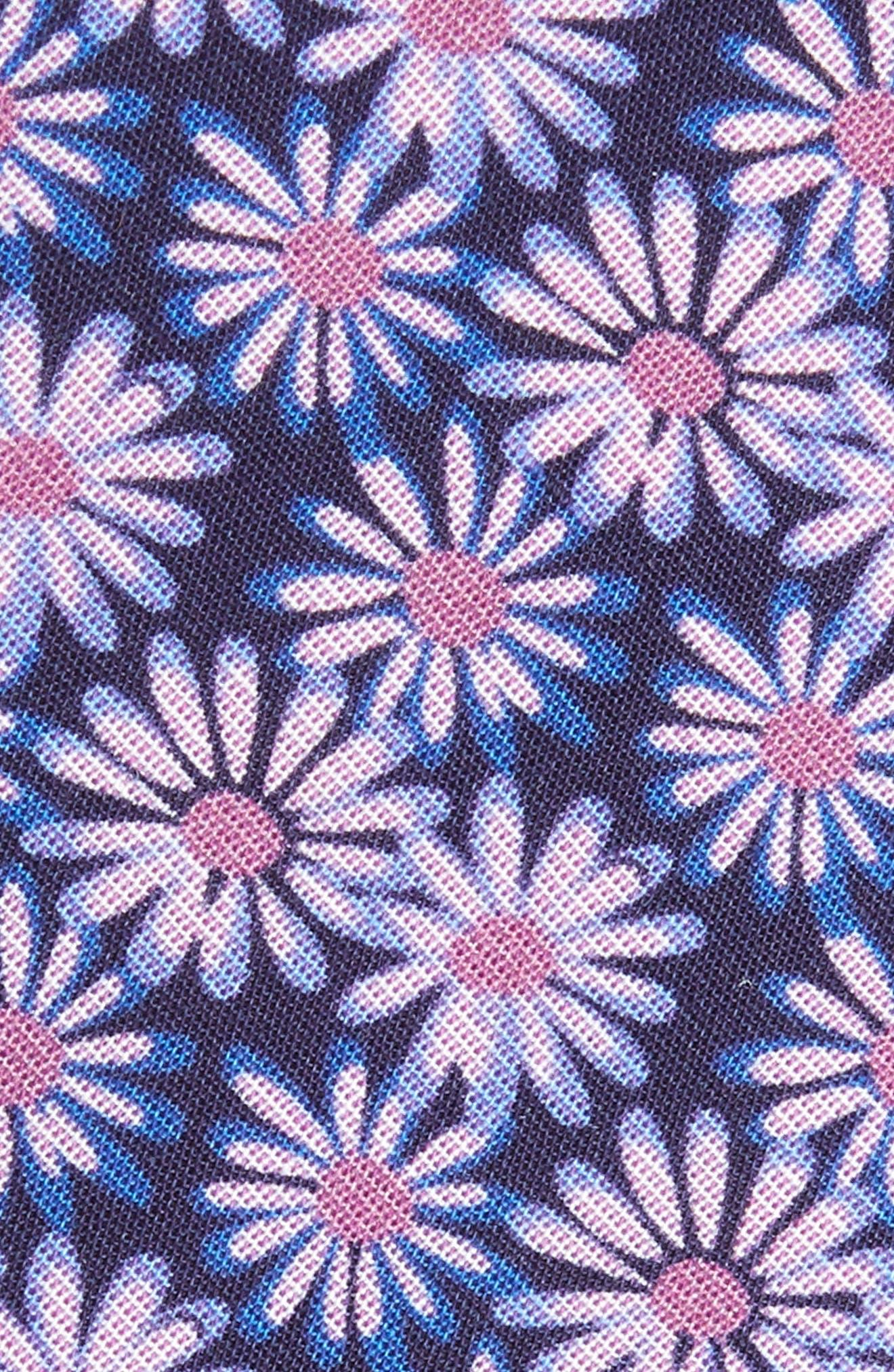 Floral Breeze Print Cotton Tie,                             Alternate thumbnail 2, color,                             500