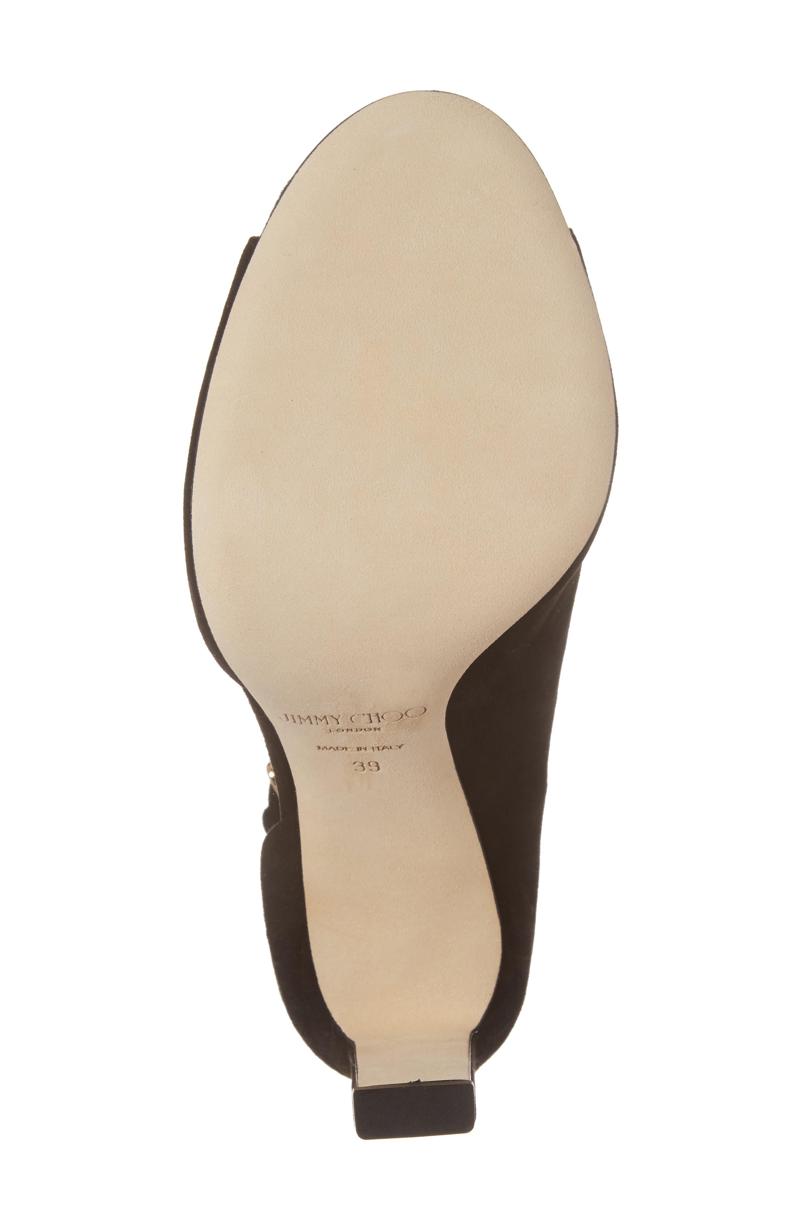 Theresa Ankle Strap Sandal,                             Alternate thumbnail 6, color,                             001