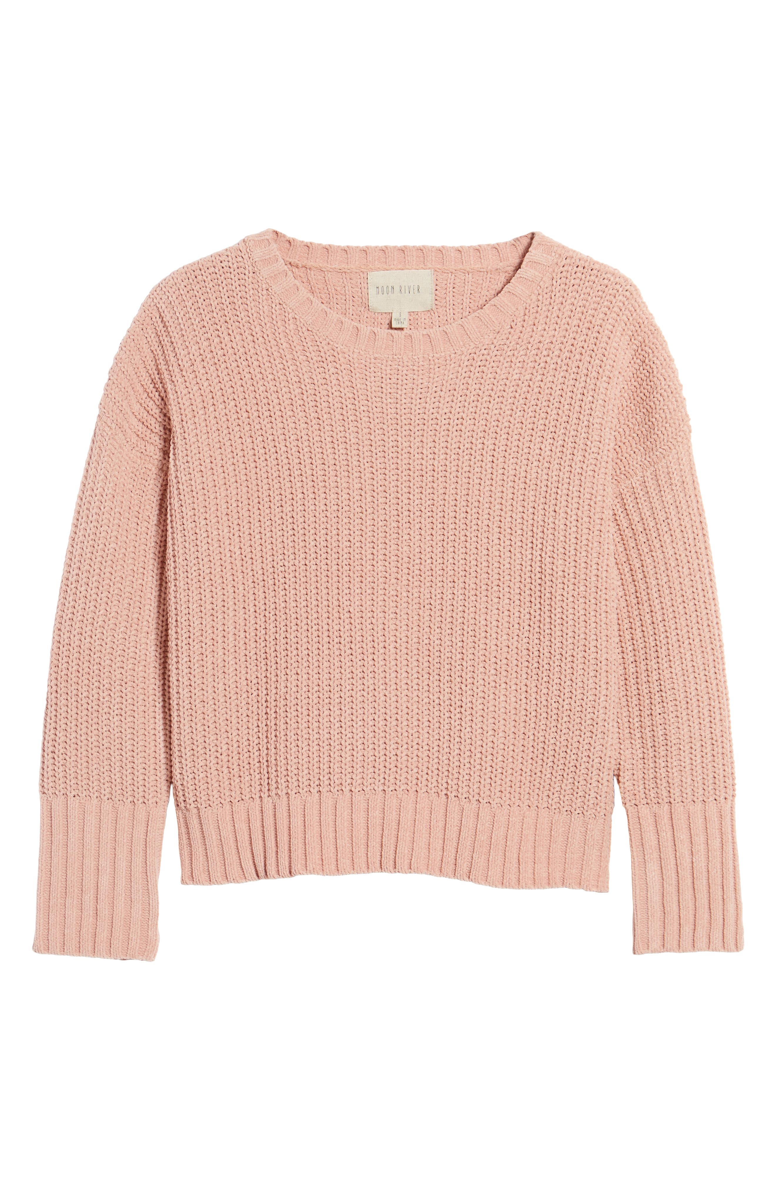 Drop Shoulder Chunky Knit Sweater,                             Alternate thumbnail 6, color,                             650