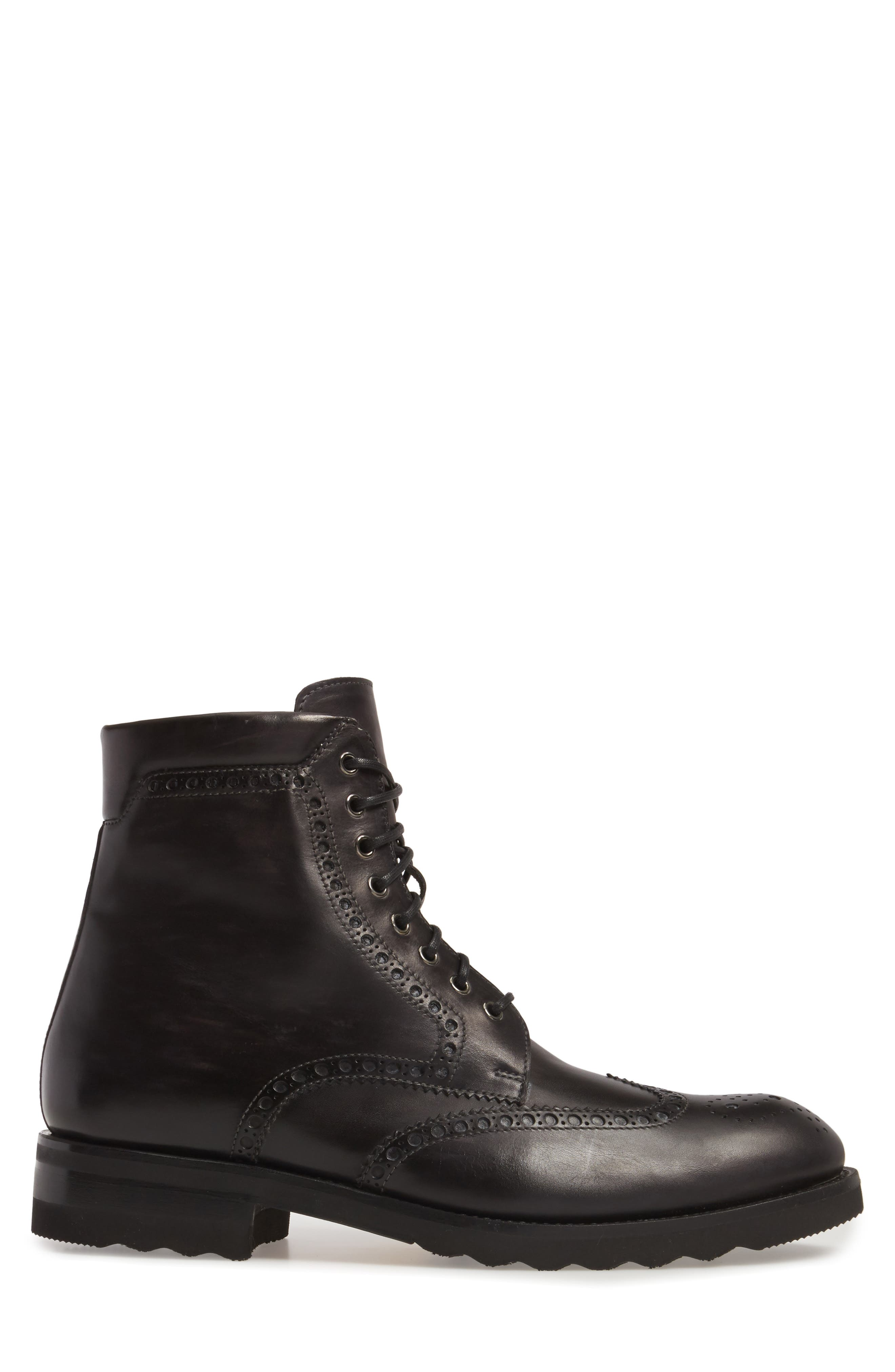 Fairfax Wingtip Boot,                             Alternate thumbnail 3, color,                             020