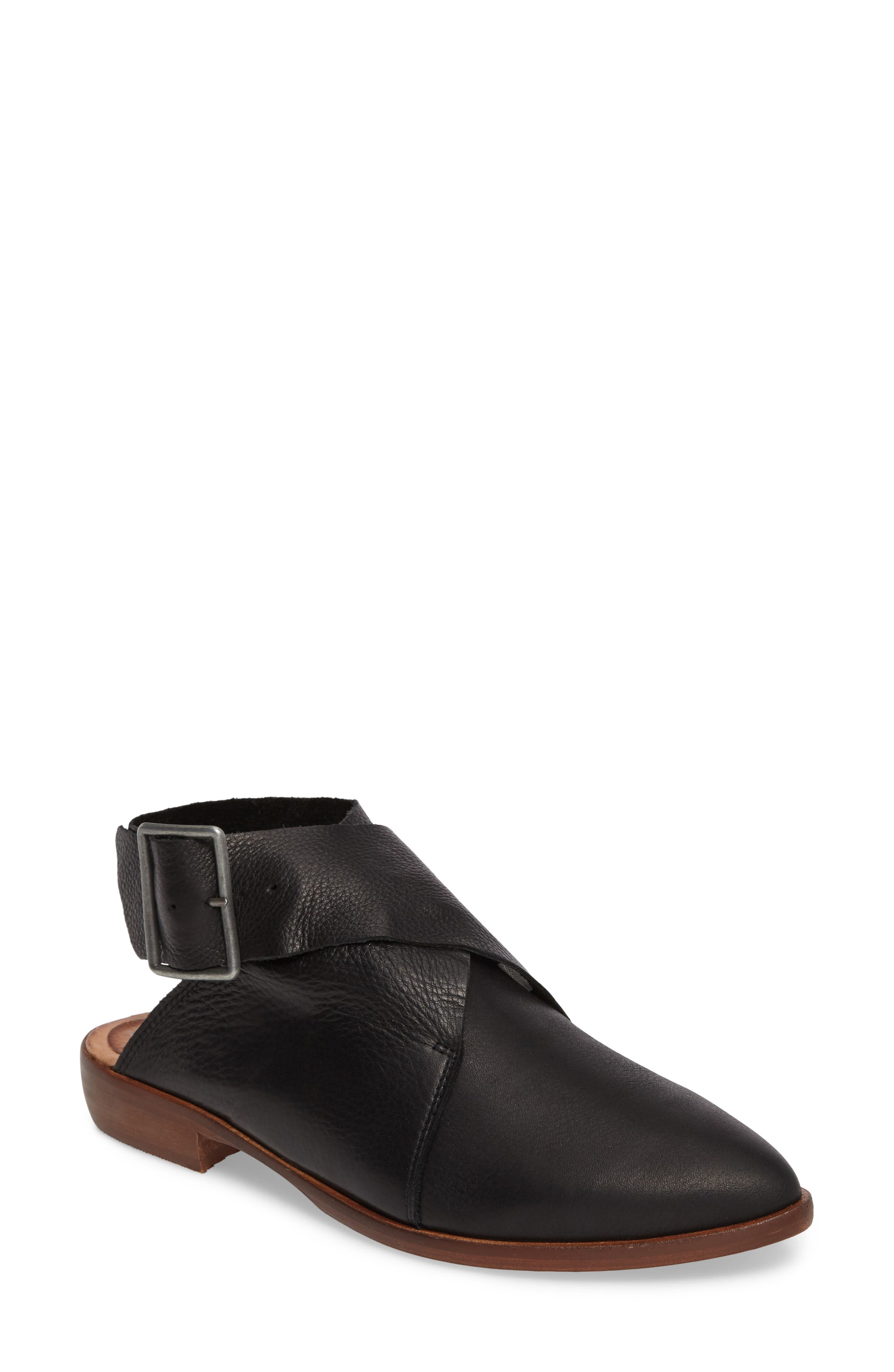 Bryce Buckle Wrap Flat,                         Main,                         color, 001