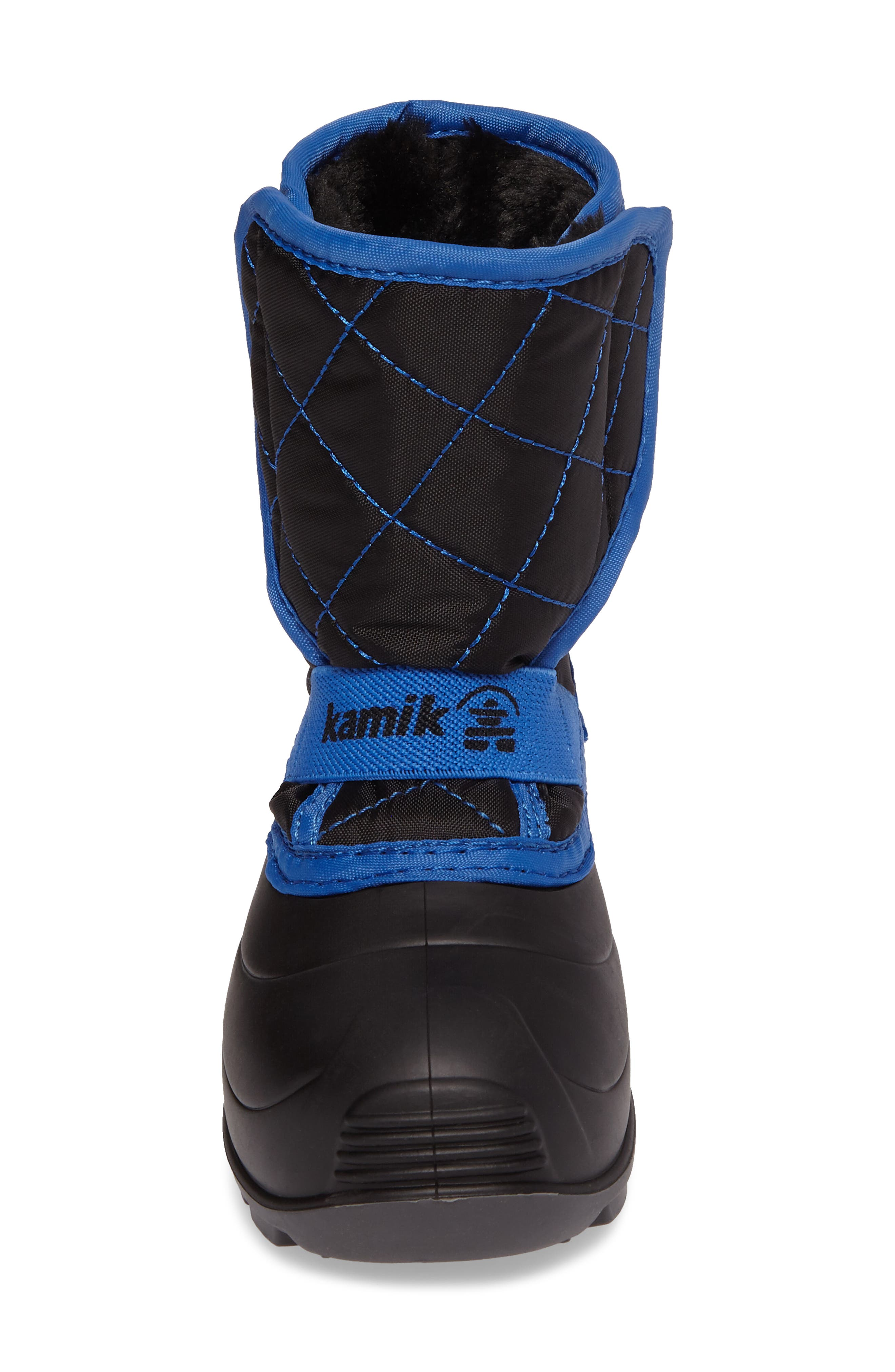 Pika2 Faux Fur Insulated Waterproof Snow Boot,                             Alternate thumbnail 4, color,                             010