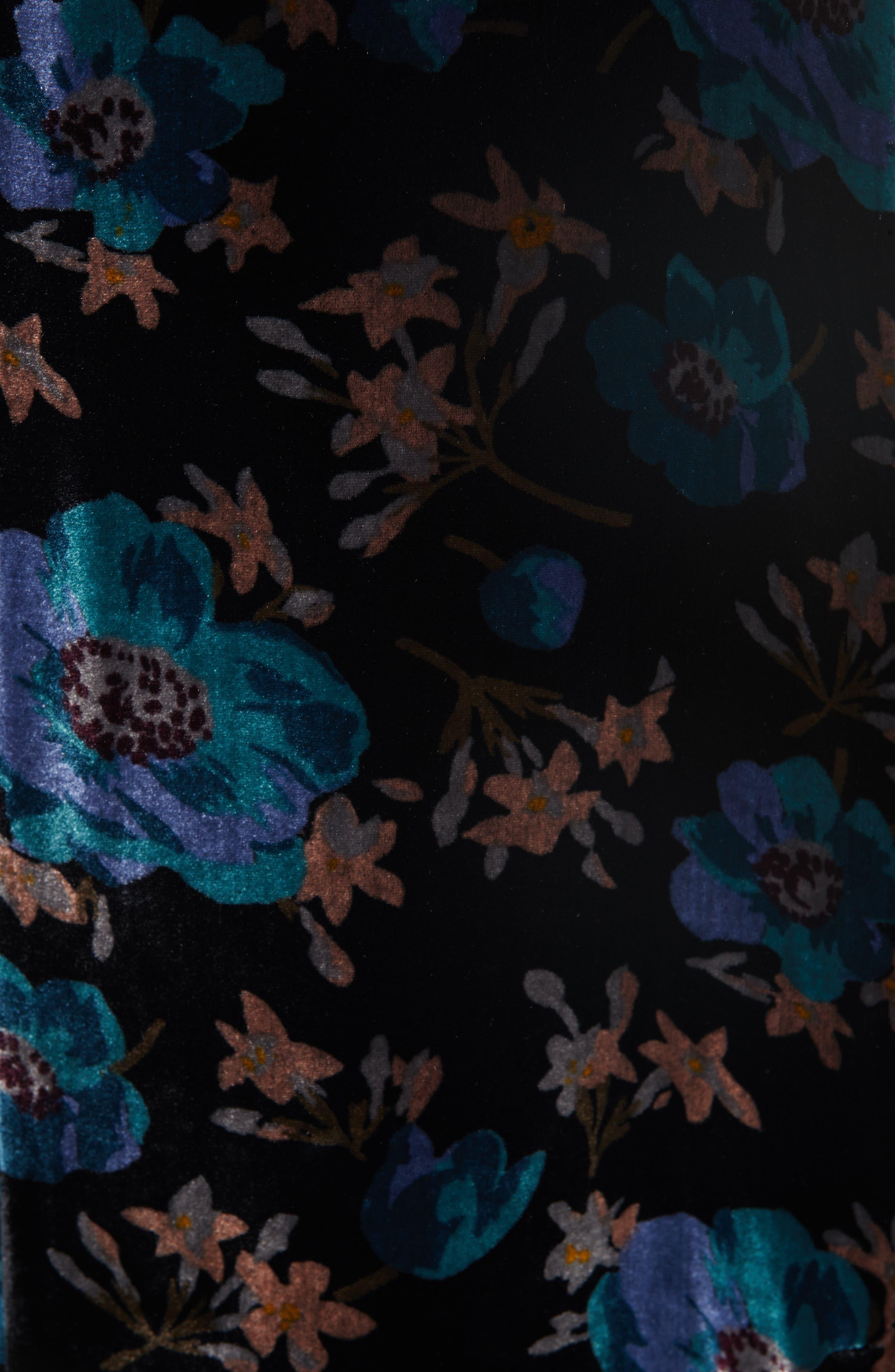 Solstice Velvet Maxi Dress,                             Alternate thumbnail 5, color,                             BLACK COMBO