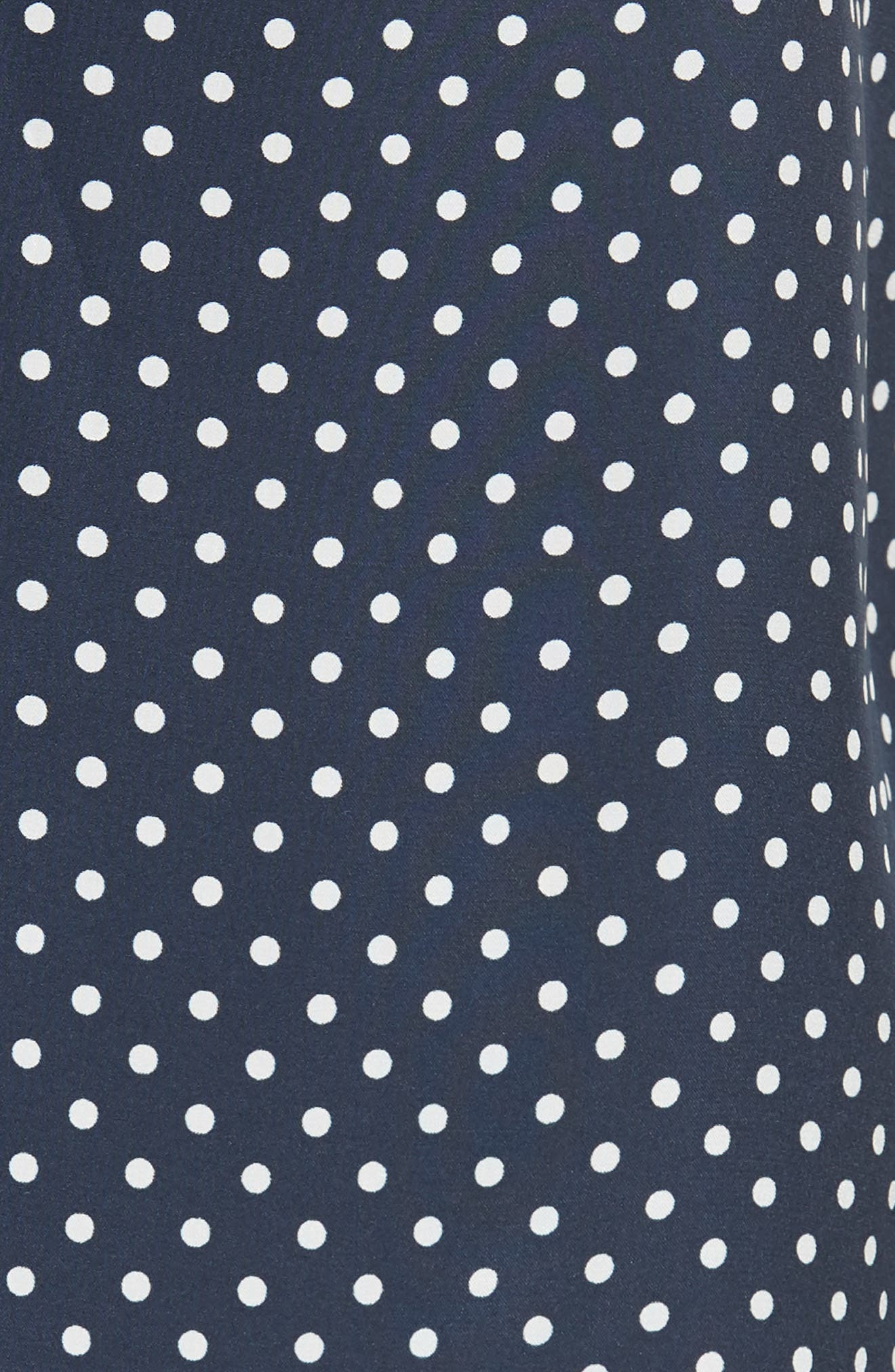 Polka Dot Silk Camisole,                             Alternate thumbnail 5, color,                             408