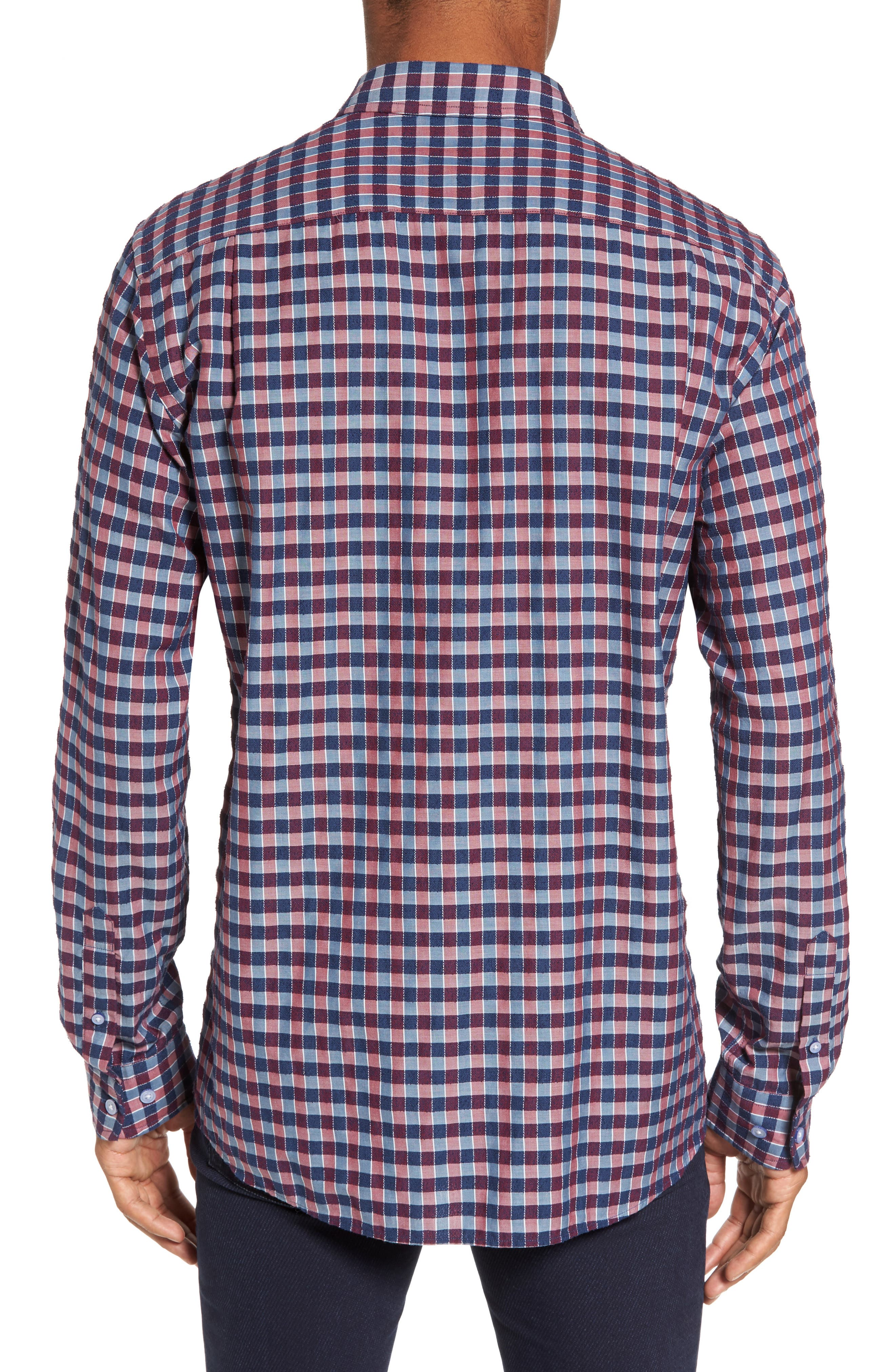 Mandeville Check Sport Shirt,                             Alternate thumbnail 2, color,                             413