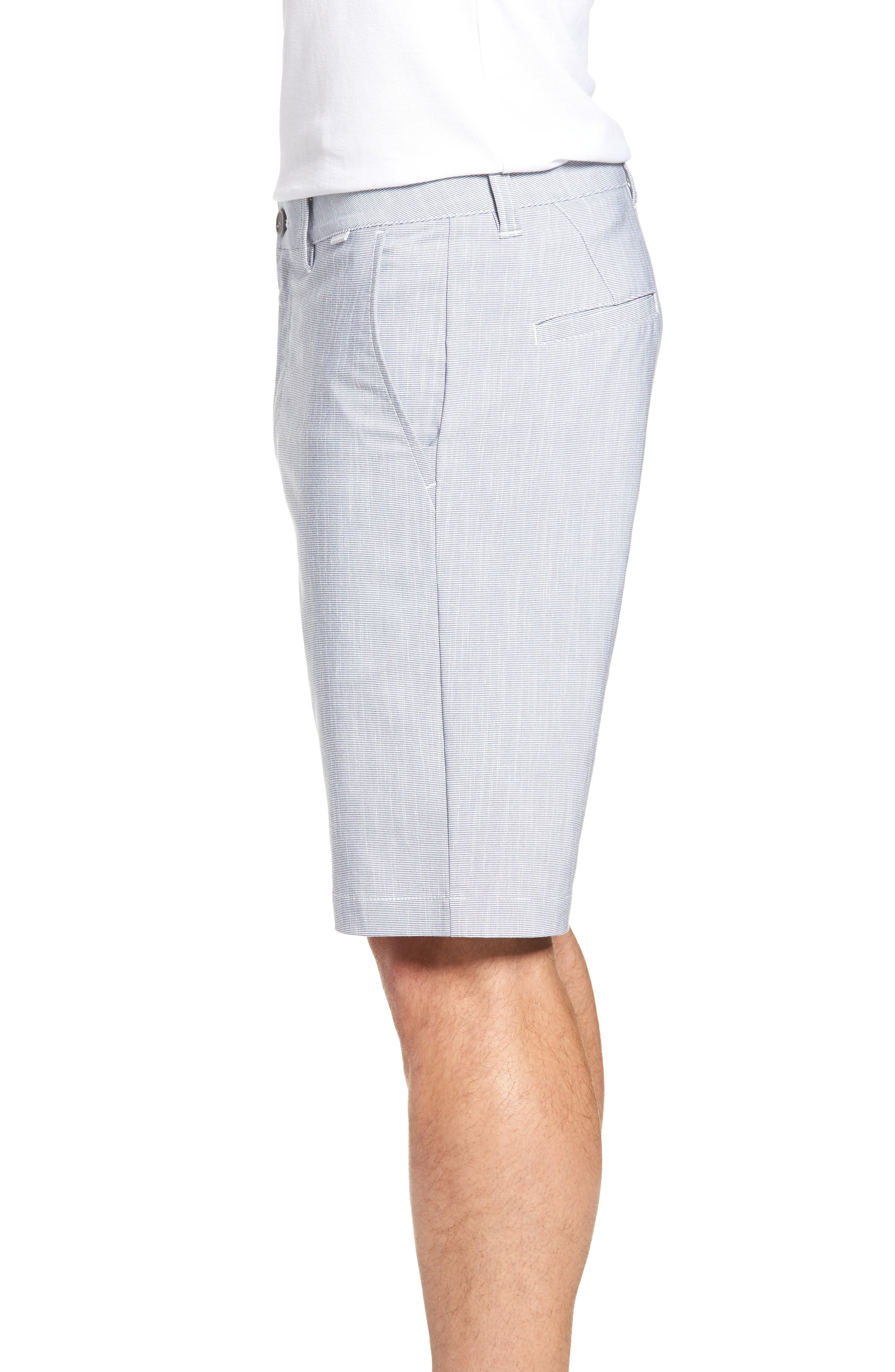 Keen Microcheck Shorts,                             Alternate thumbnail 3, color,                             HEATHER BLUE NIGHTS