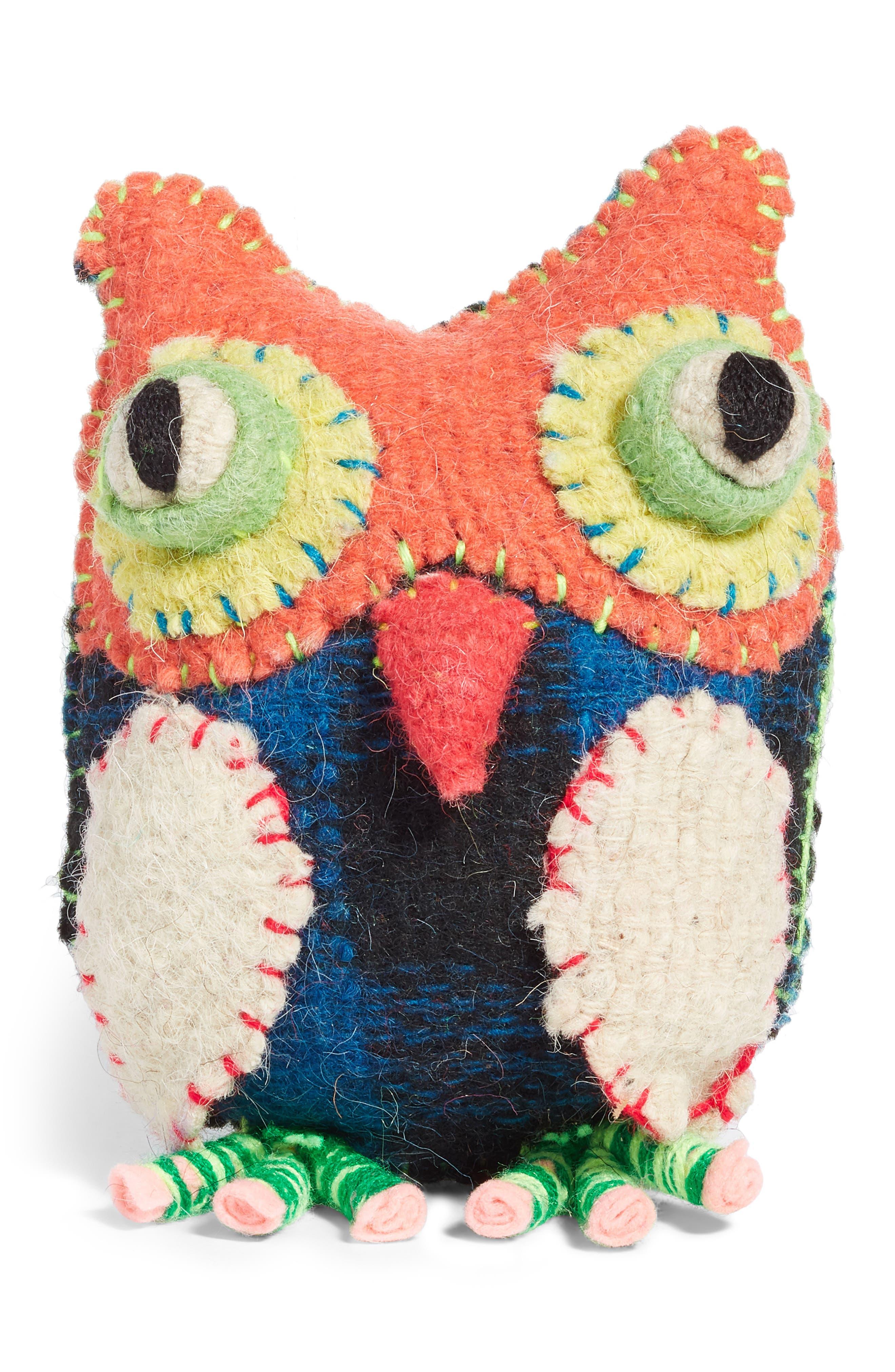 Owl Stuffed Animal,                             Main thumbnail 1, color,                             MULTI