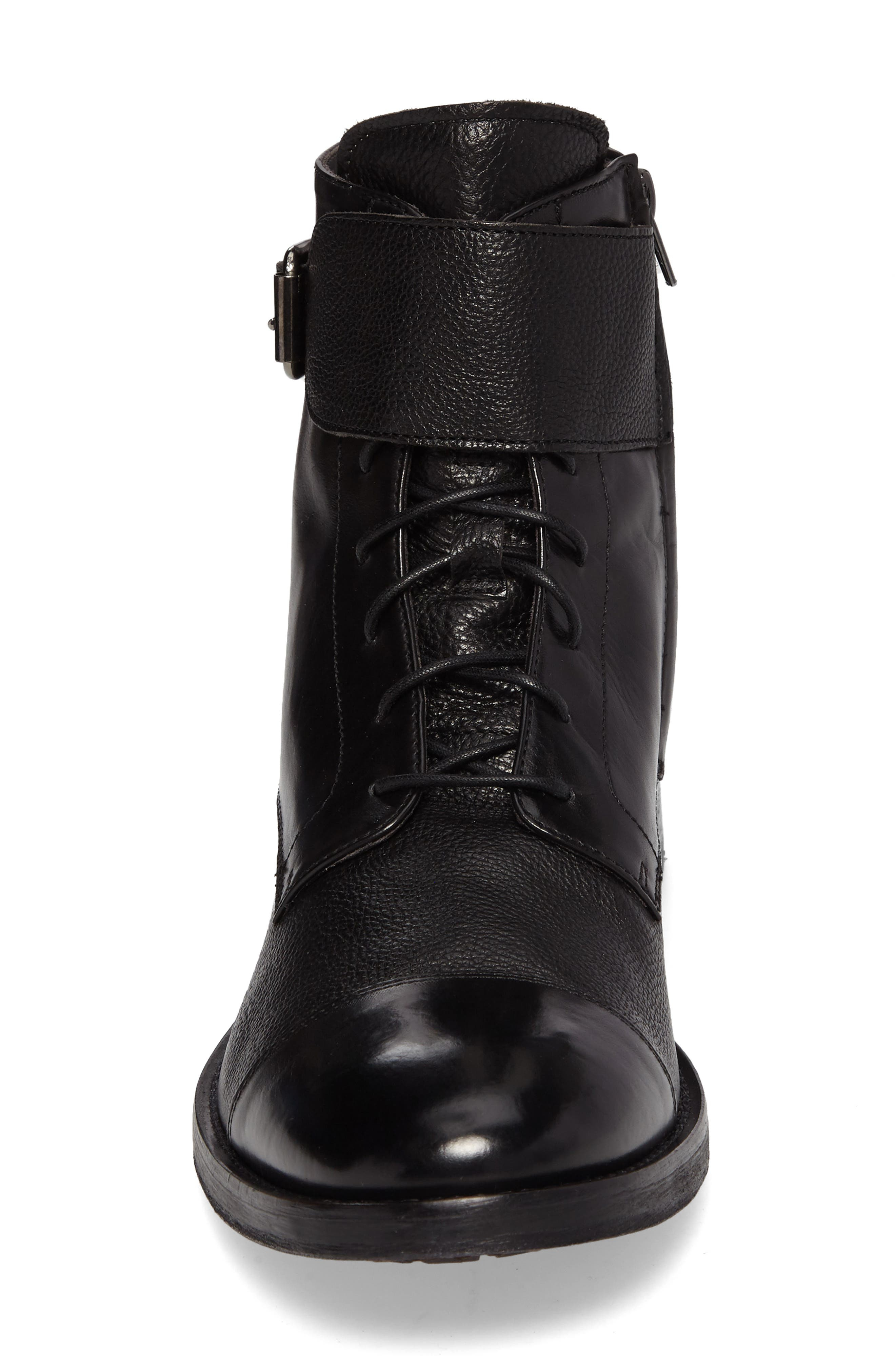 Flyboy Cap Toe Boot,                             Alternate thumbnail 4, color,                             001