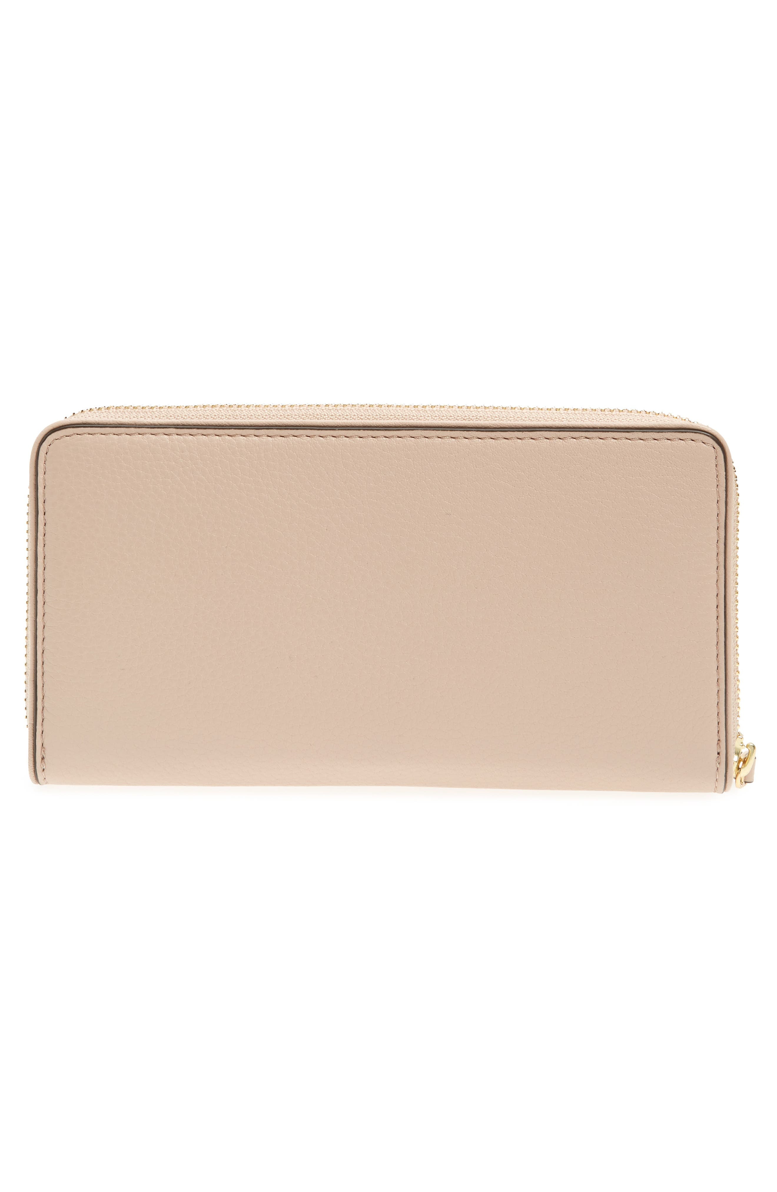 Marsden Leather Zip Around Wallet,                             Alternate thumbnail 9, color,