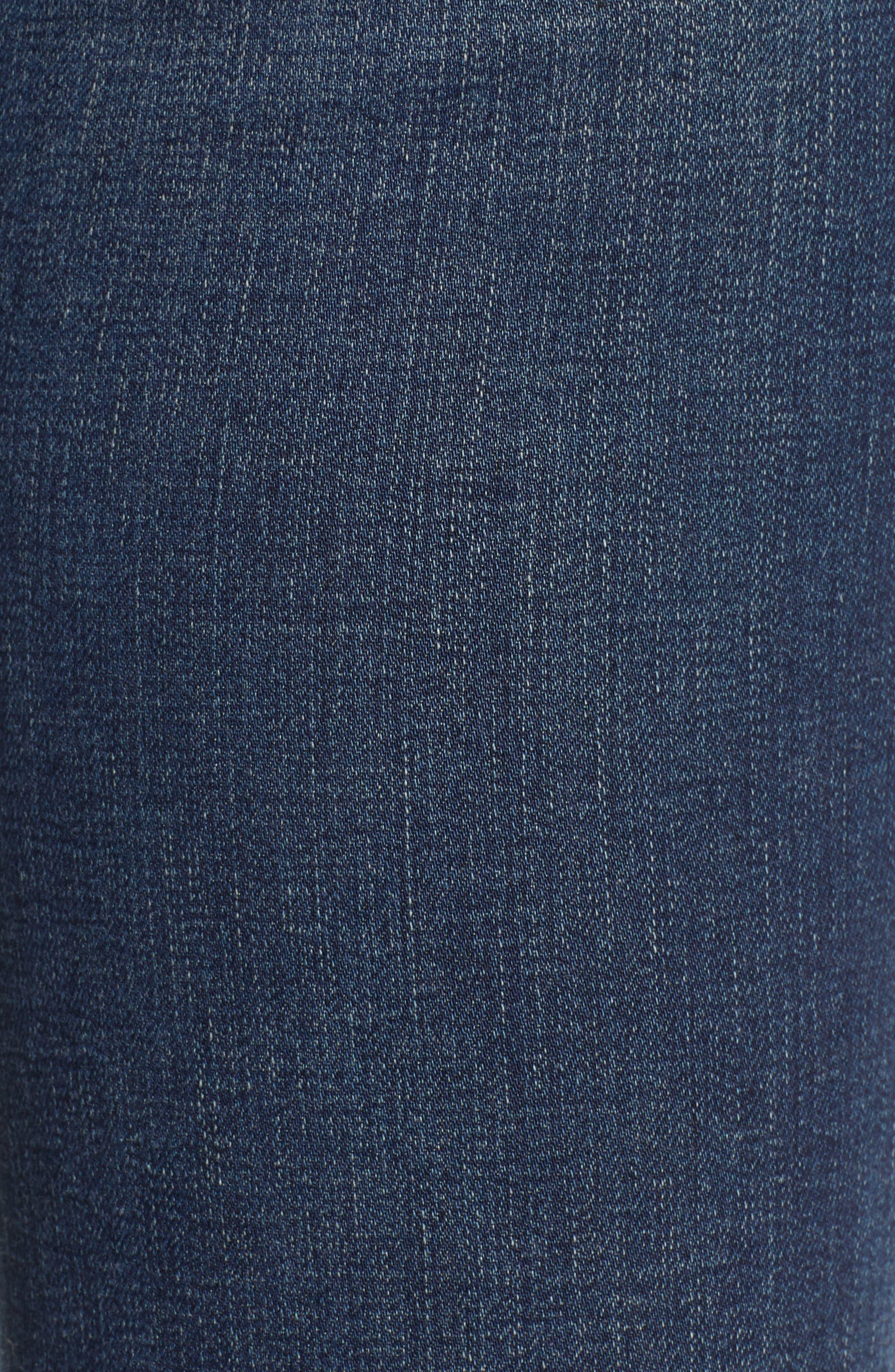 Jodi Raw Hem Crop Flare Jeans,                             Alternate thumbnail 6, color,                             10Y PURSUED