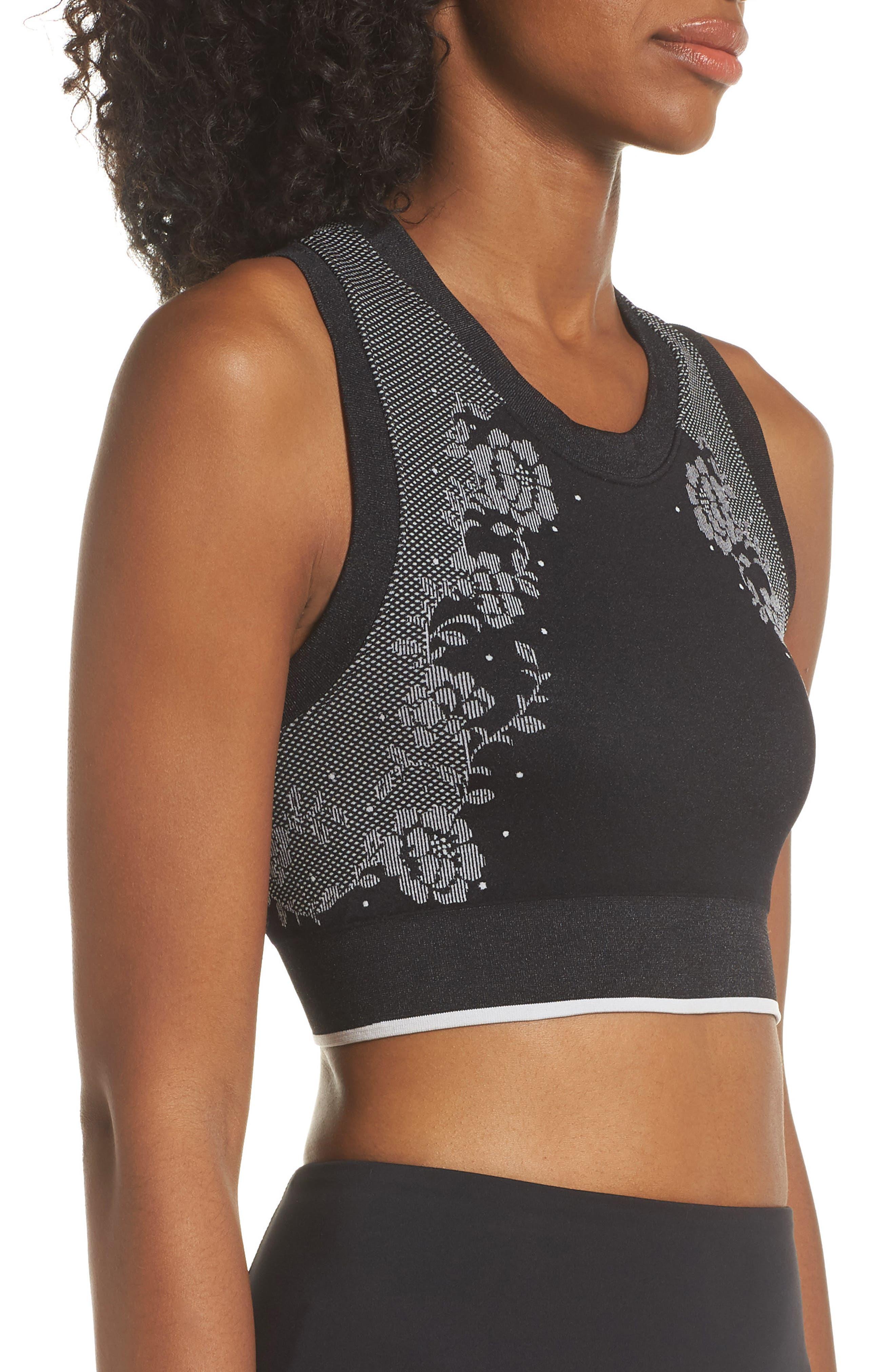 longline sports bra,                             Alternate thumbnail 3, color,                             BLACK