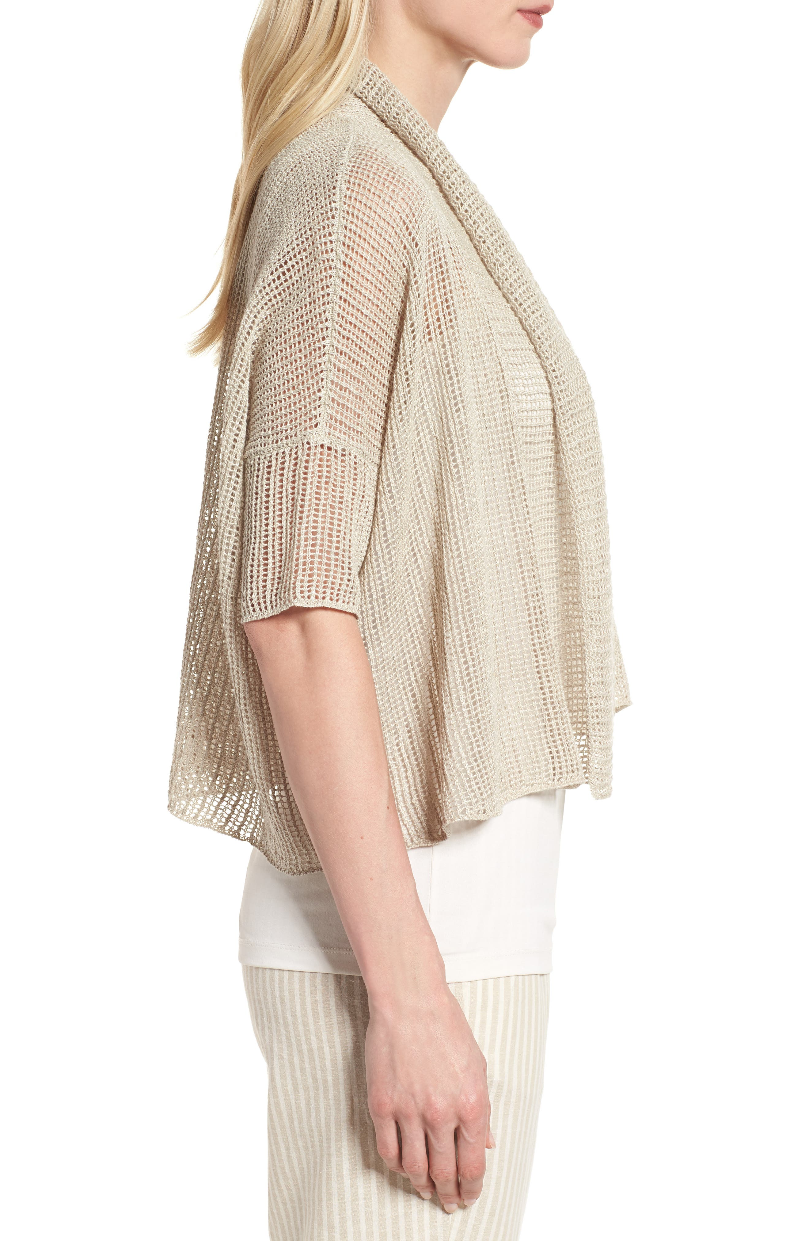 Boxy Organic Linen Cardigan,                             Alternate thumbnail 13, color,