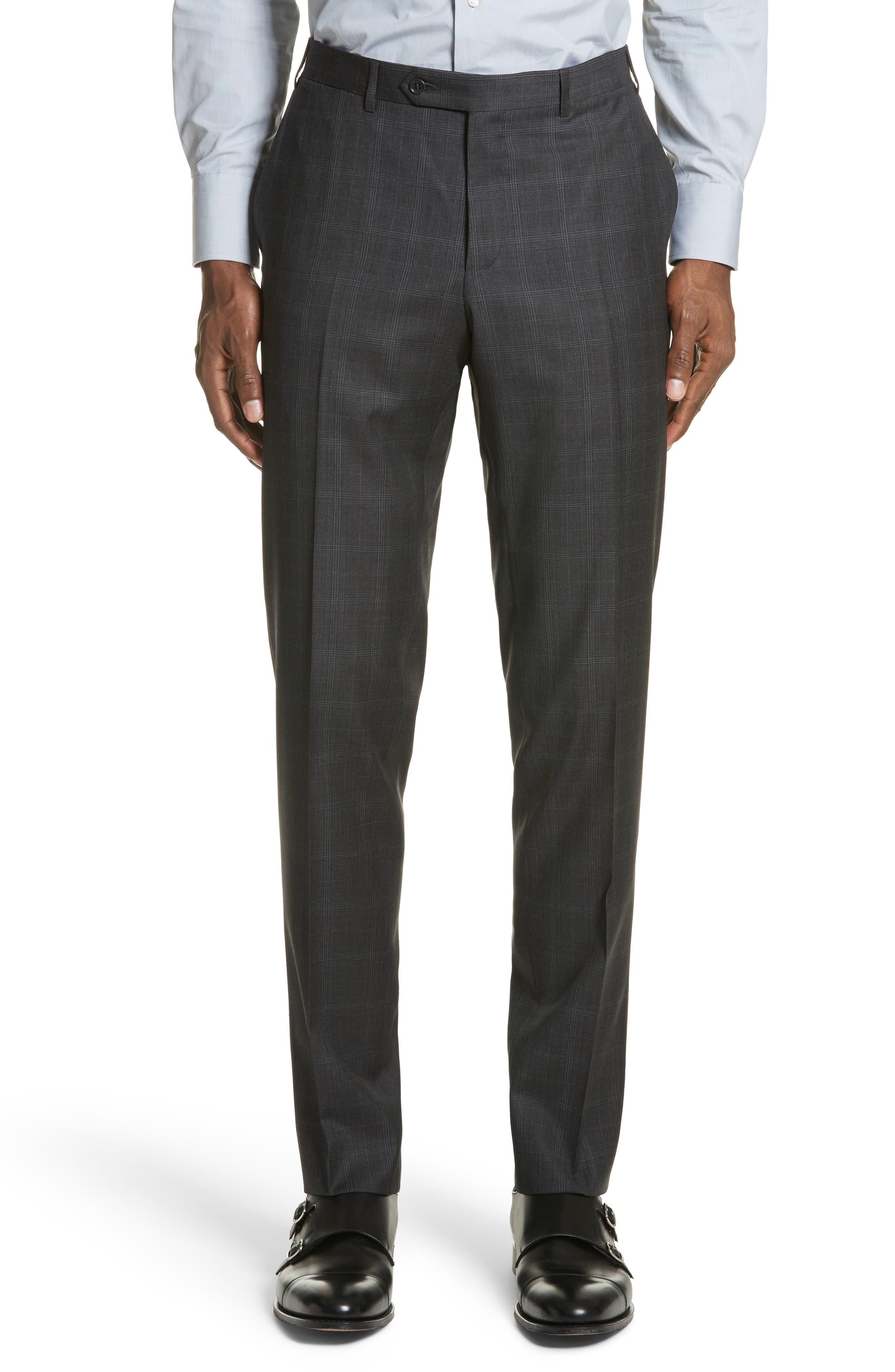 Classic Fit Plaid Wool Suit,                             Alternate thumbnail 6, color,                             023