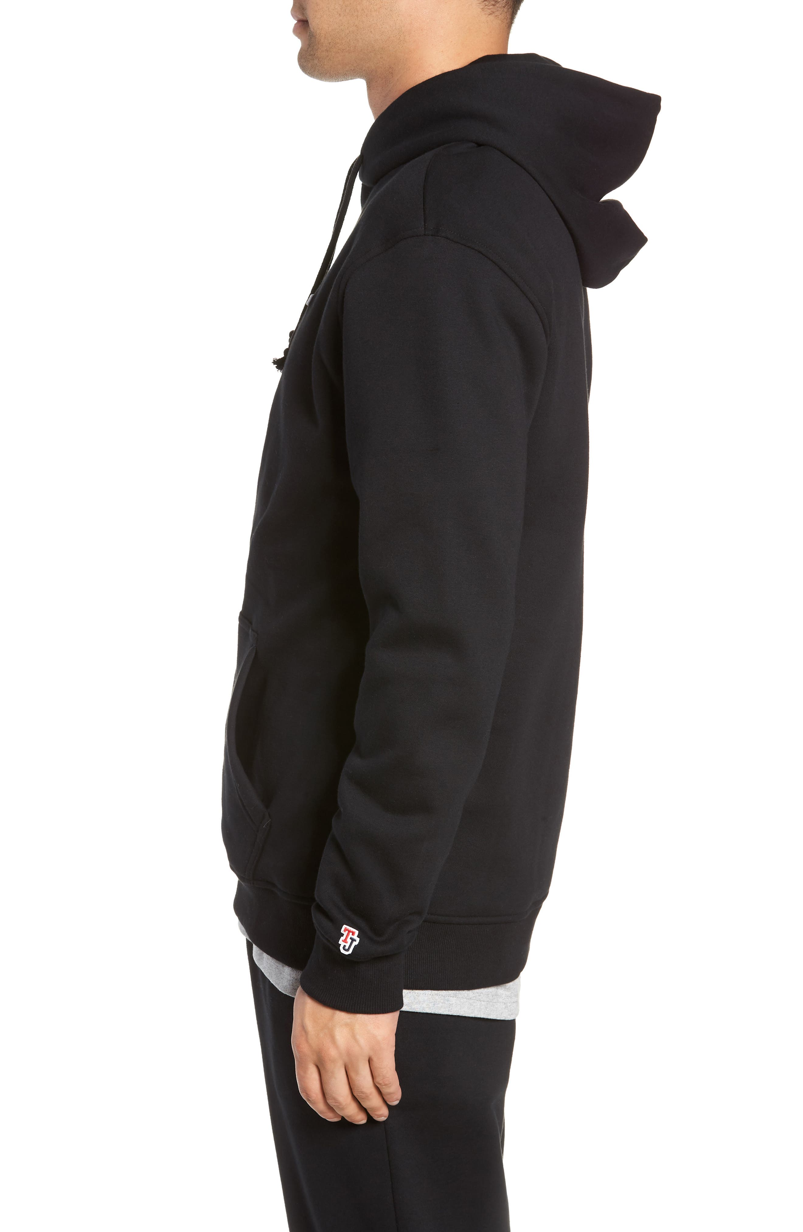 Tommy Classics Hoodie,                             Alternate thumbnail 3, color,                             001