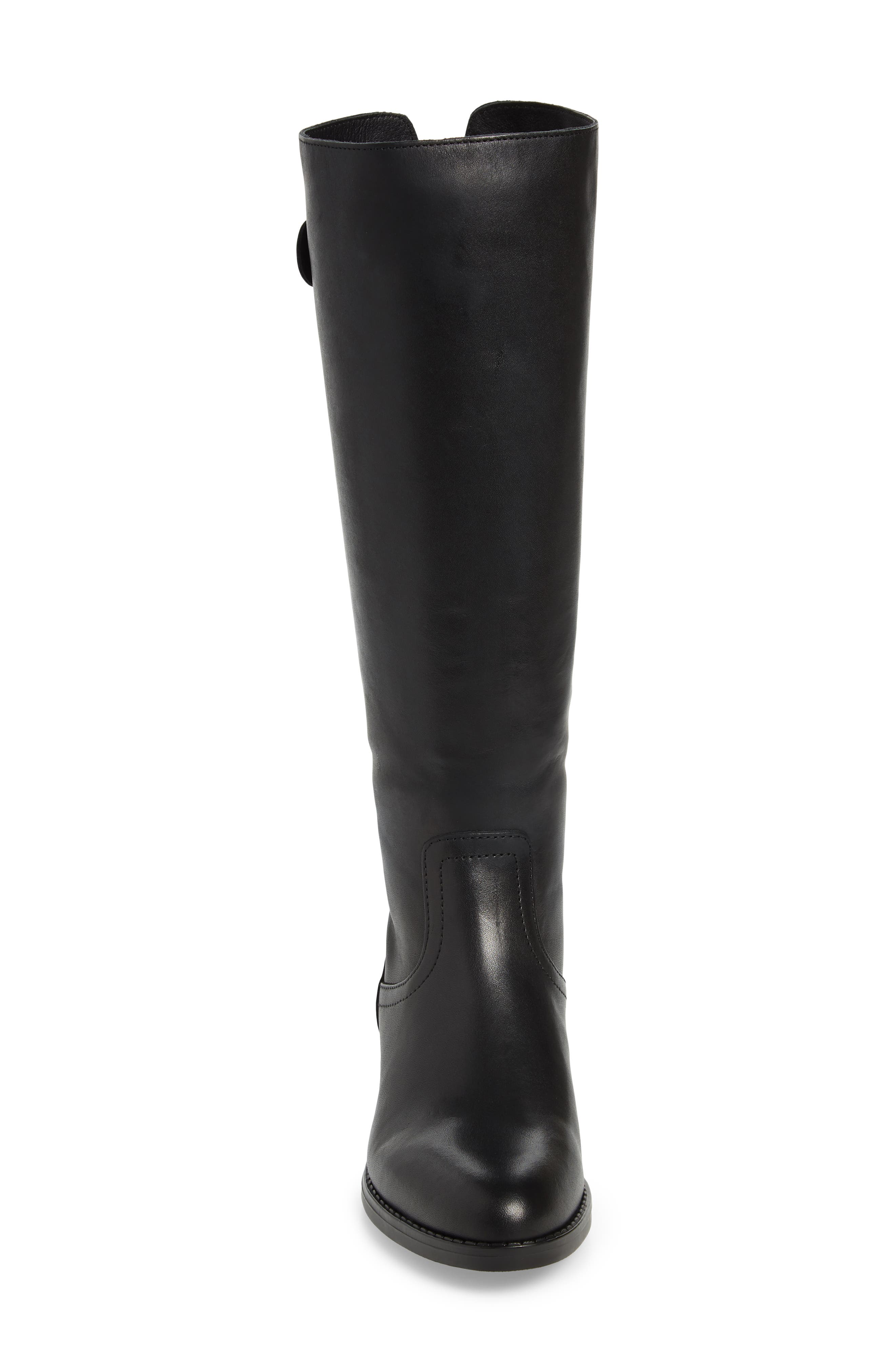 Journal Knee High Boot,                             Alternate thumbnail 4, color,                             BLACK LEATHER