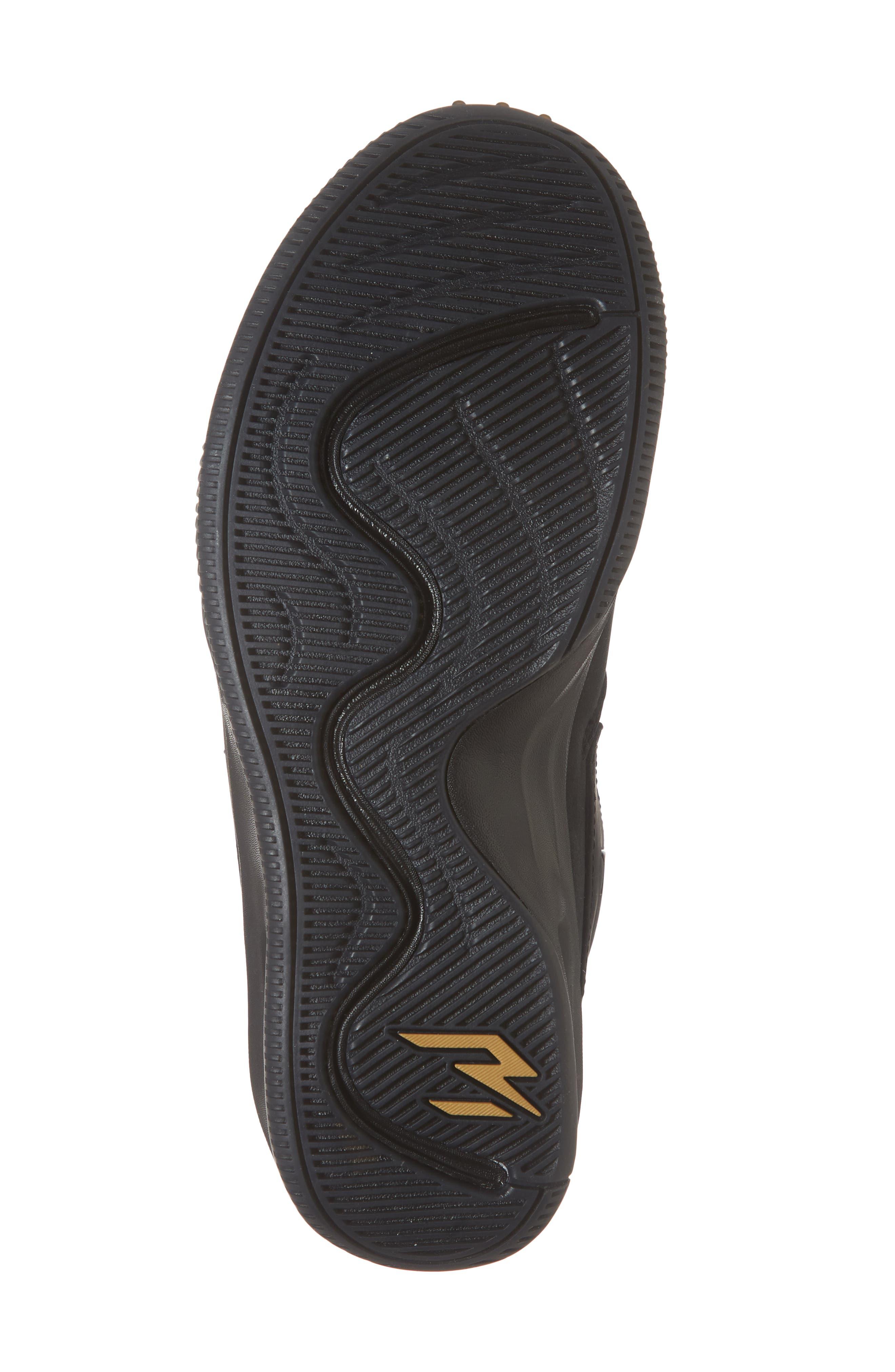 Dangeruss Wilson 1 Sneaker,                             Alternate thumbnail 6, color,                             BLACK/ METALLIC GOLD