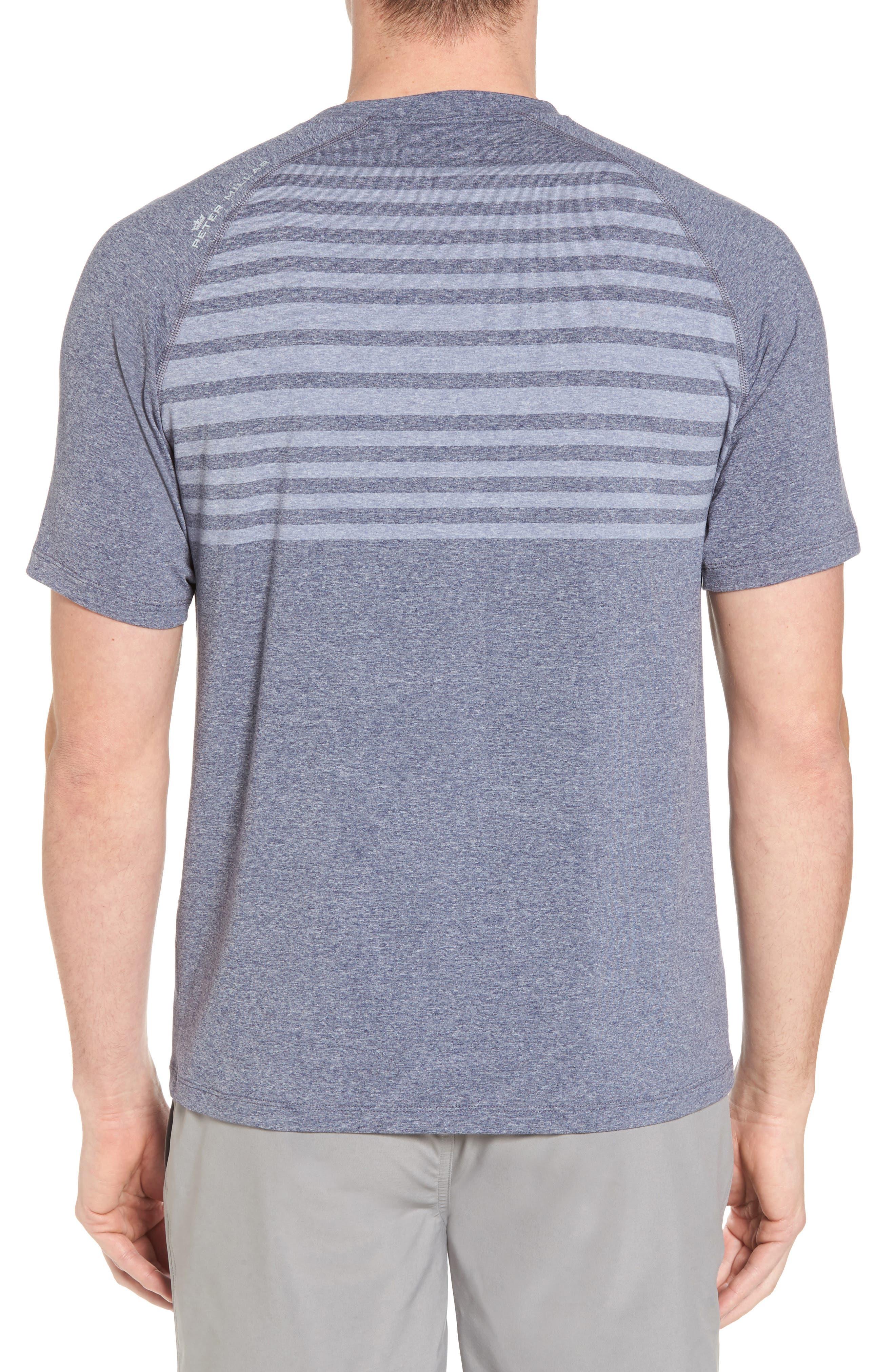 Rio Stripe Technical T-Shirt,                             Alternate thumbnail 4, color,