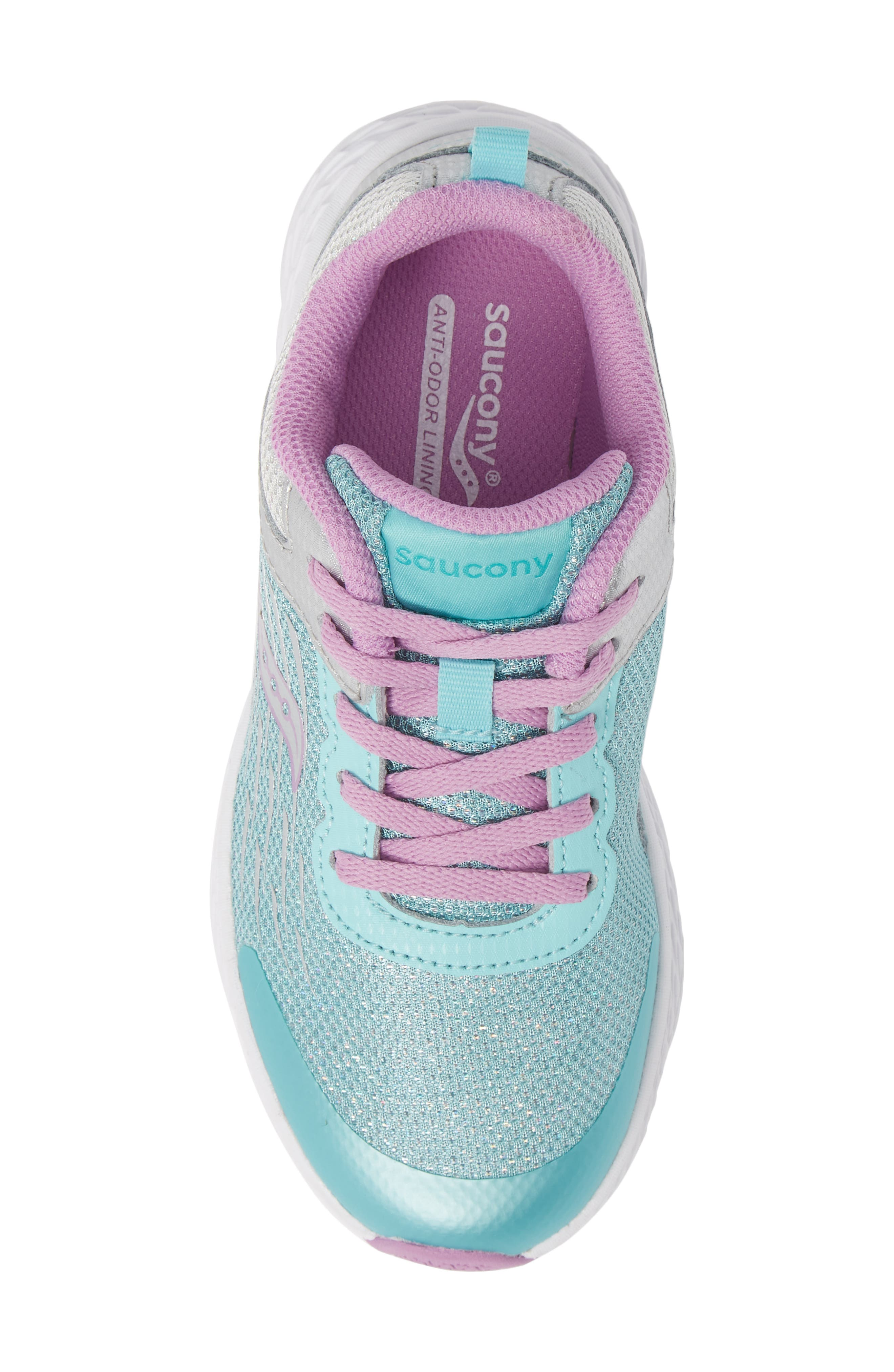Wind Sneaker,                             Alternate thumbnail 5, color,                             TURQUOISE/ SILVER