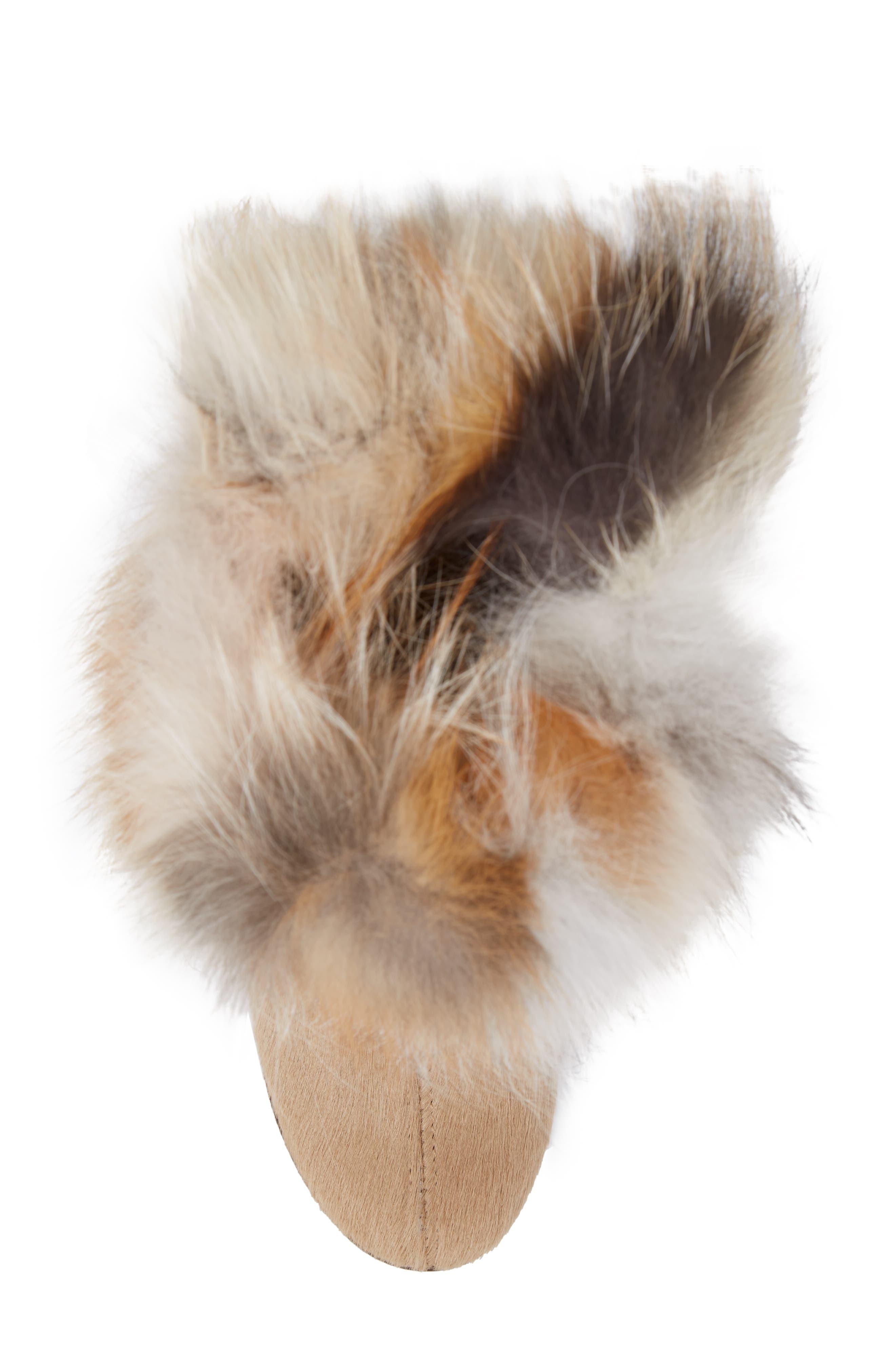 Angelina Genuine Fox Fur Wedge Boot,                             Alternate thumbnail 20, color,