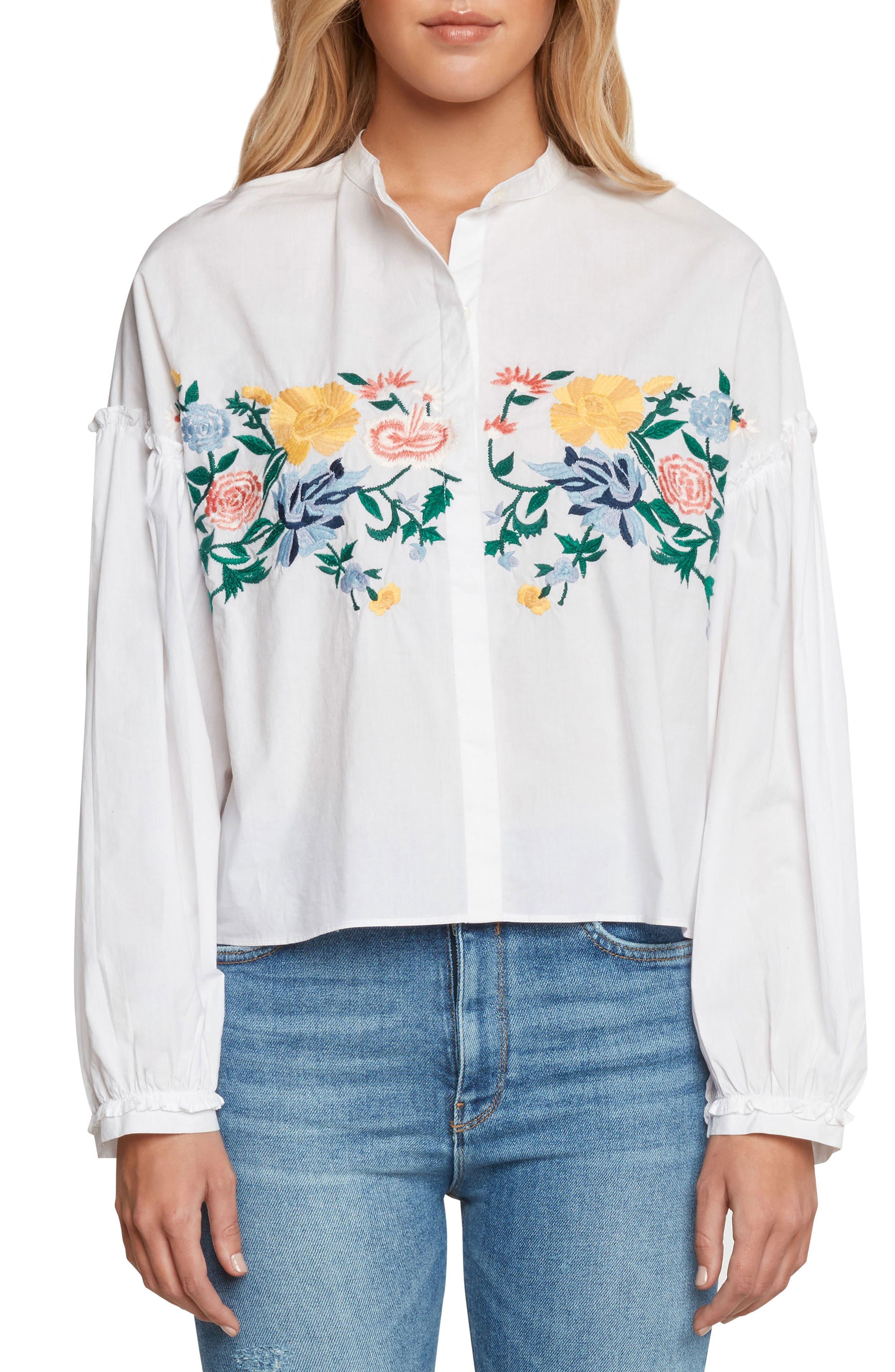 Amoroso Embroidered Poplin Shirt,                         Main,                         color,