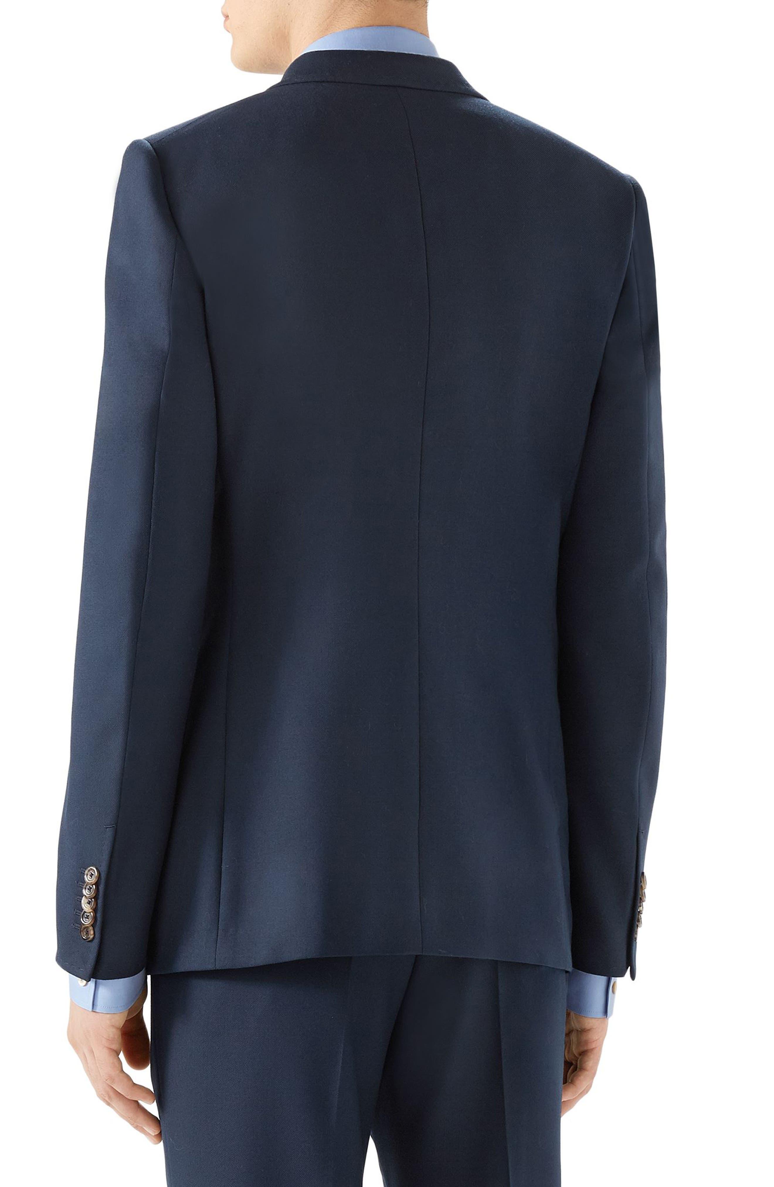Peak Lapel Sport Coat,                             Alternate thumbnail 2, color,                             BLUE