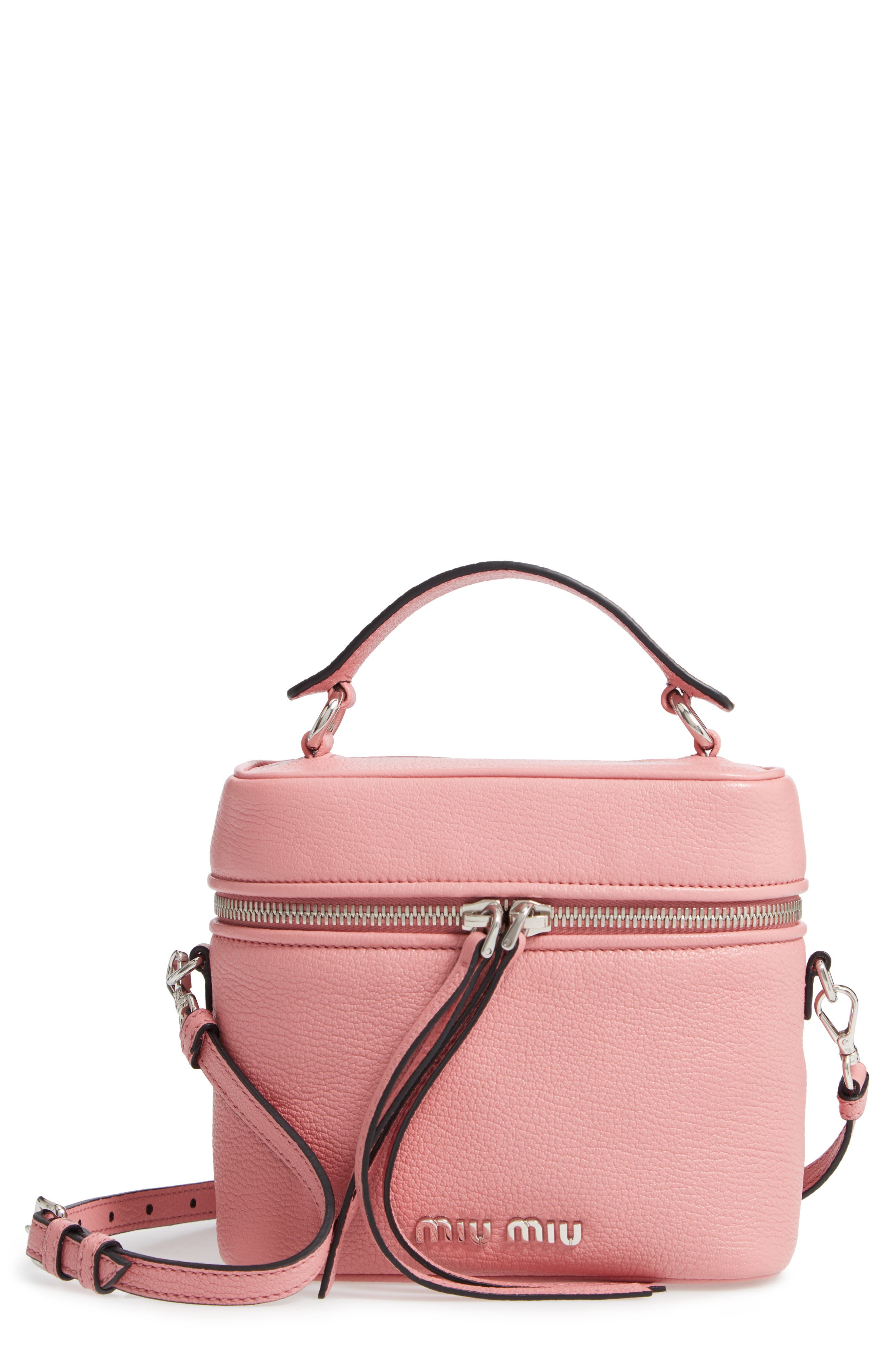 Leather Cosmetics Case in Rosa