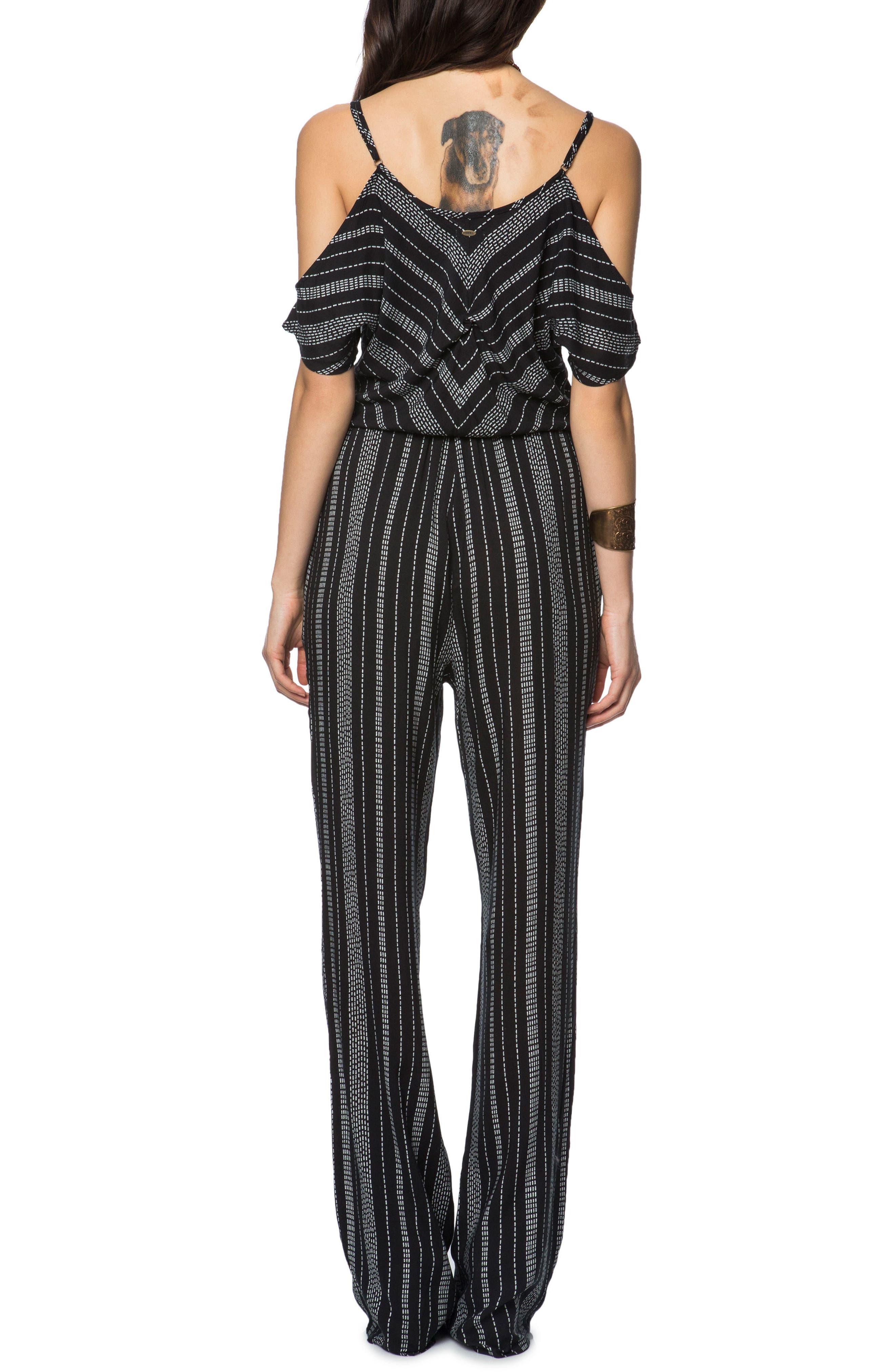 Yolanda Woven Cold Shoulder Jumpsuit,                             Alternate thumbnail 2, color,