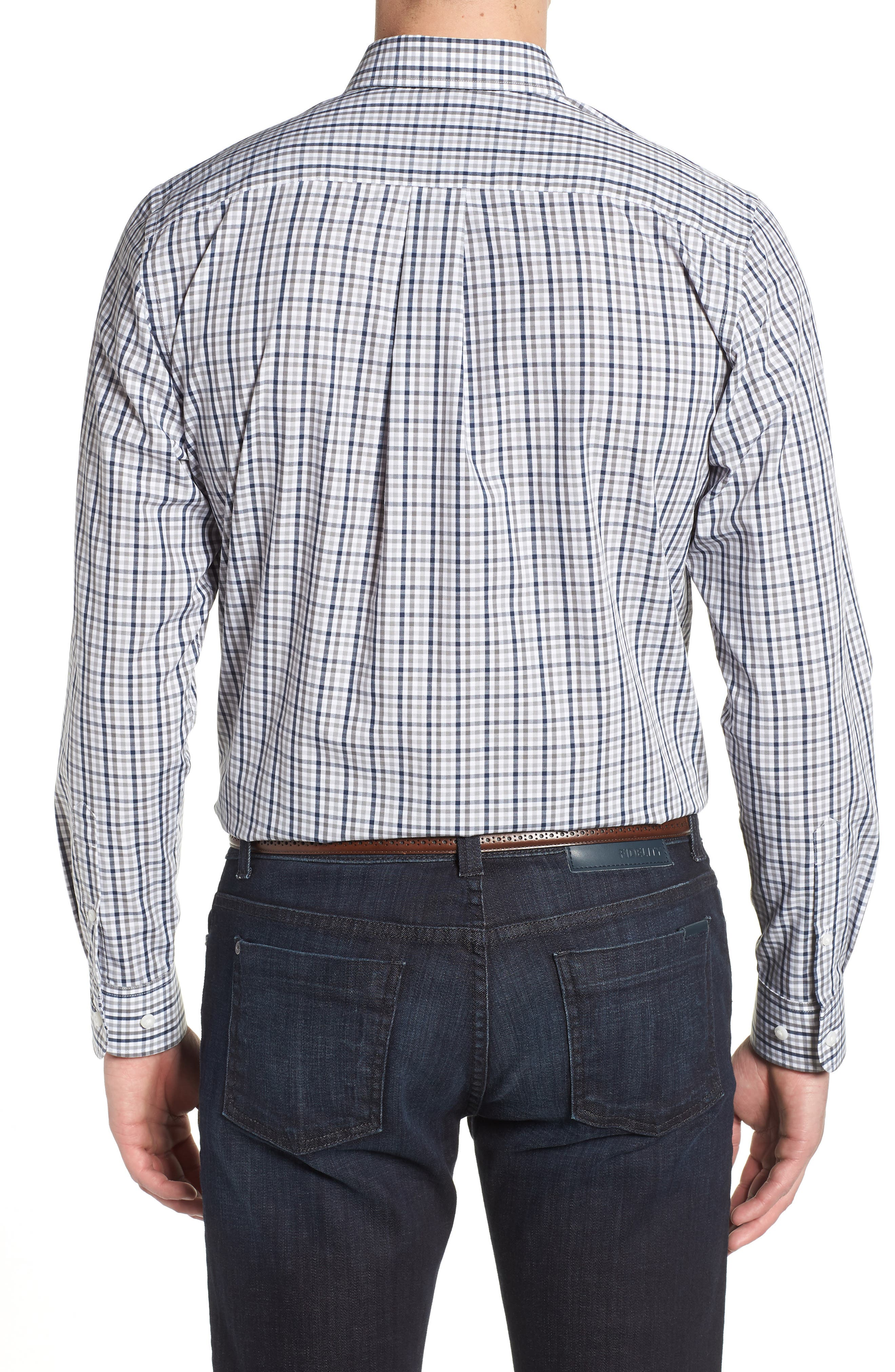 Tennessee Titans - Gilman Regular Fit Plaid Sport Shirt,                             Alternate thumbnail 2, color,                             LIBERTY NAVY