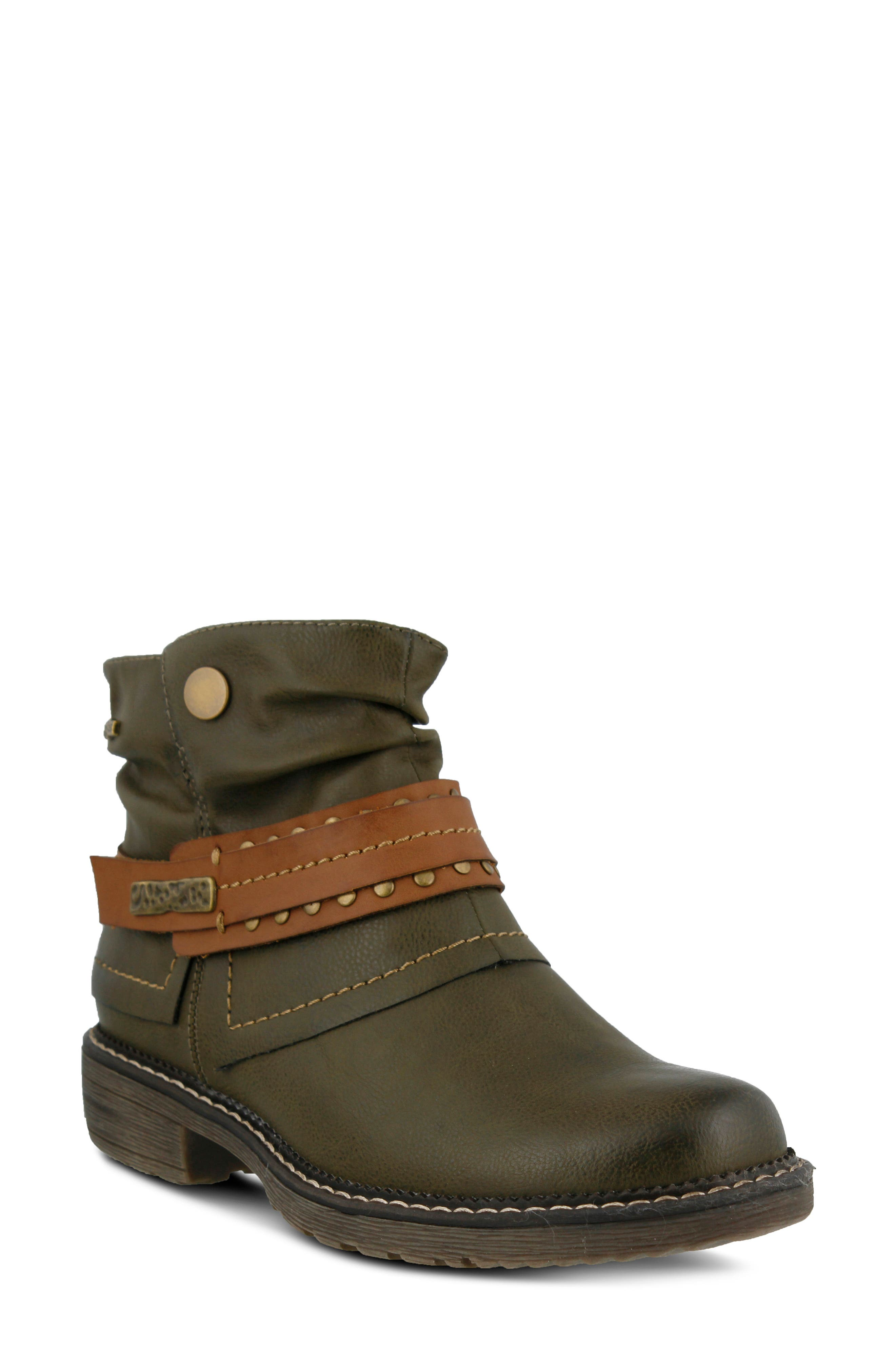 Spring Step Murna Bootie - Green