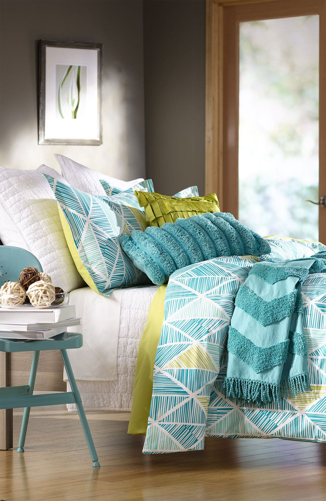 Zigzag Tufted Throw,                             Alternate thumbnail 6, color,