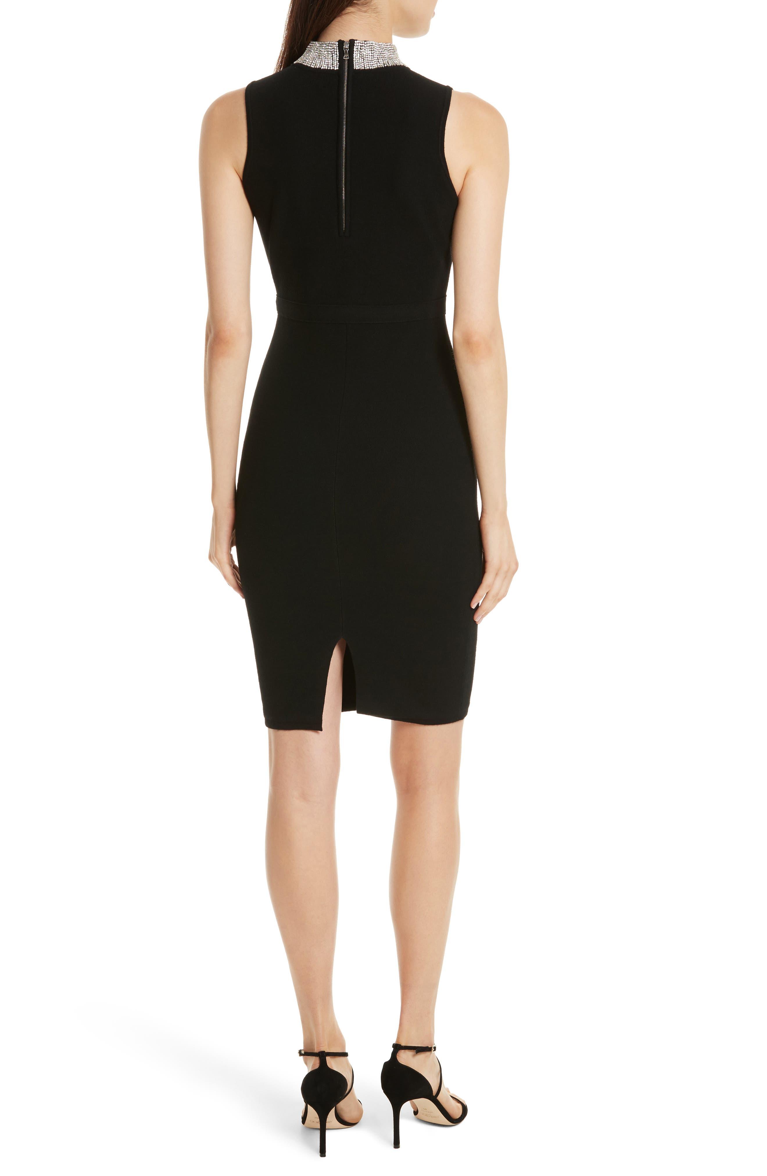 Jewel Collar Sheath Dress,                             Alternate thumbnail 2, color,